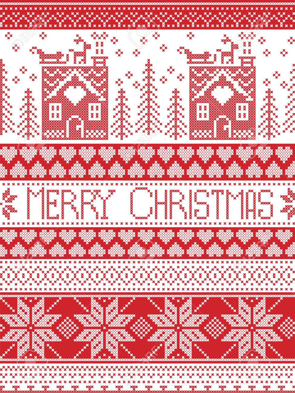 Merry Christmas In Norwegian.Merry Christmas Scandinavian Textile Style Inspired By Norwegian