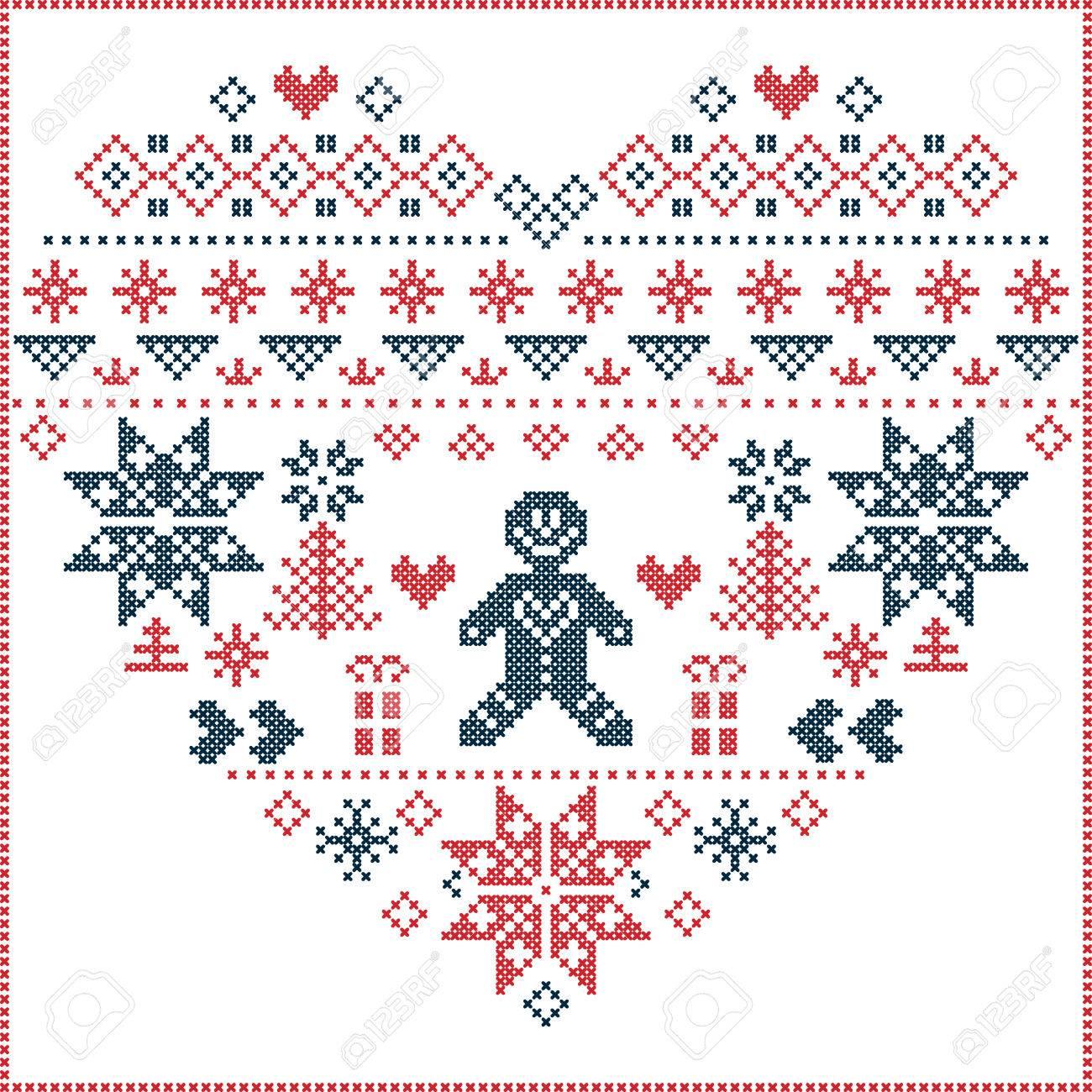 En Forma De Corazón E Inspirado En La Navidad De Noruega Y Patrón De ...