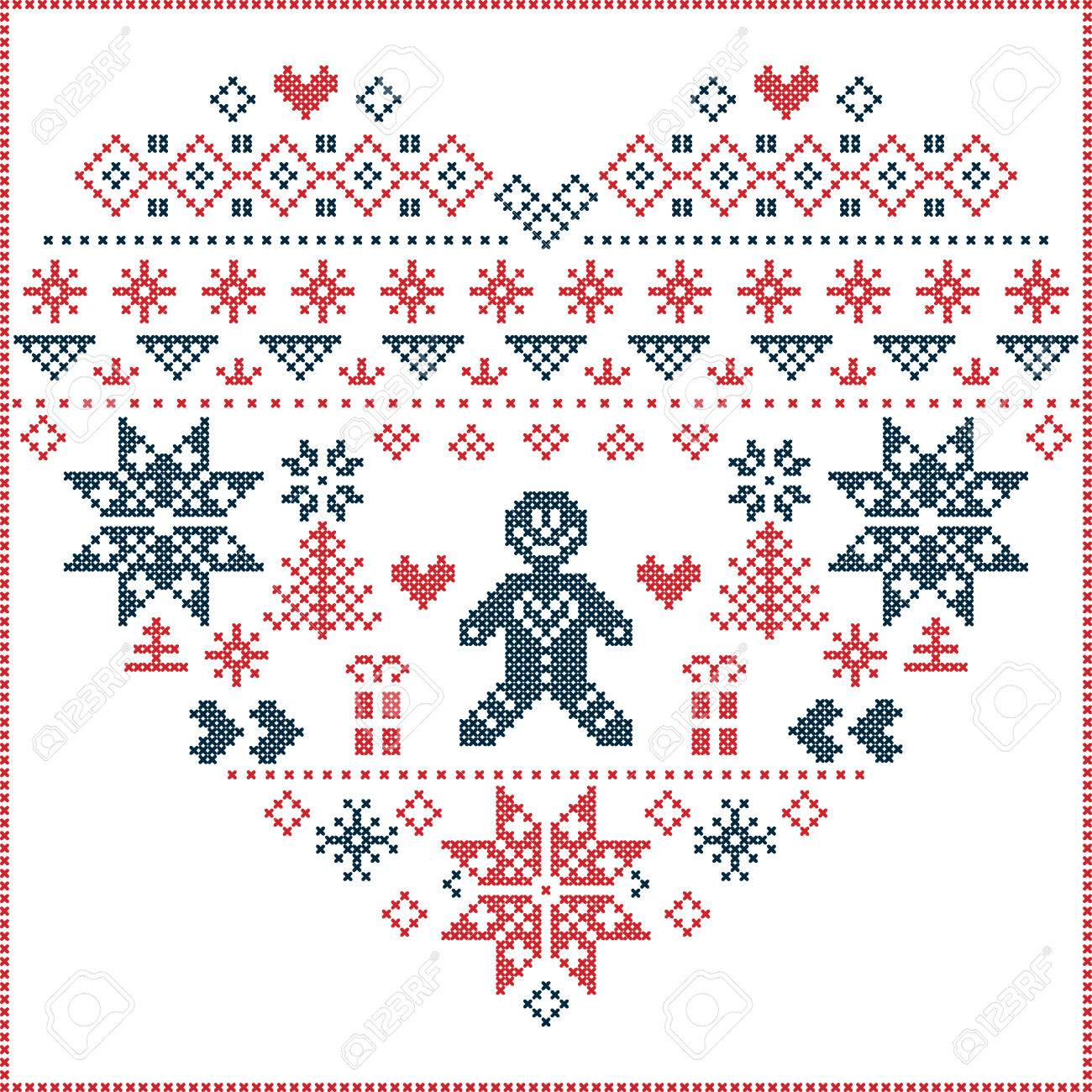 Heart Shape And Inspired By Norwegian Christmas And Festive ...