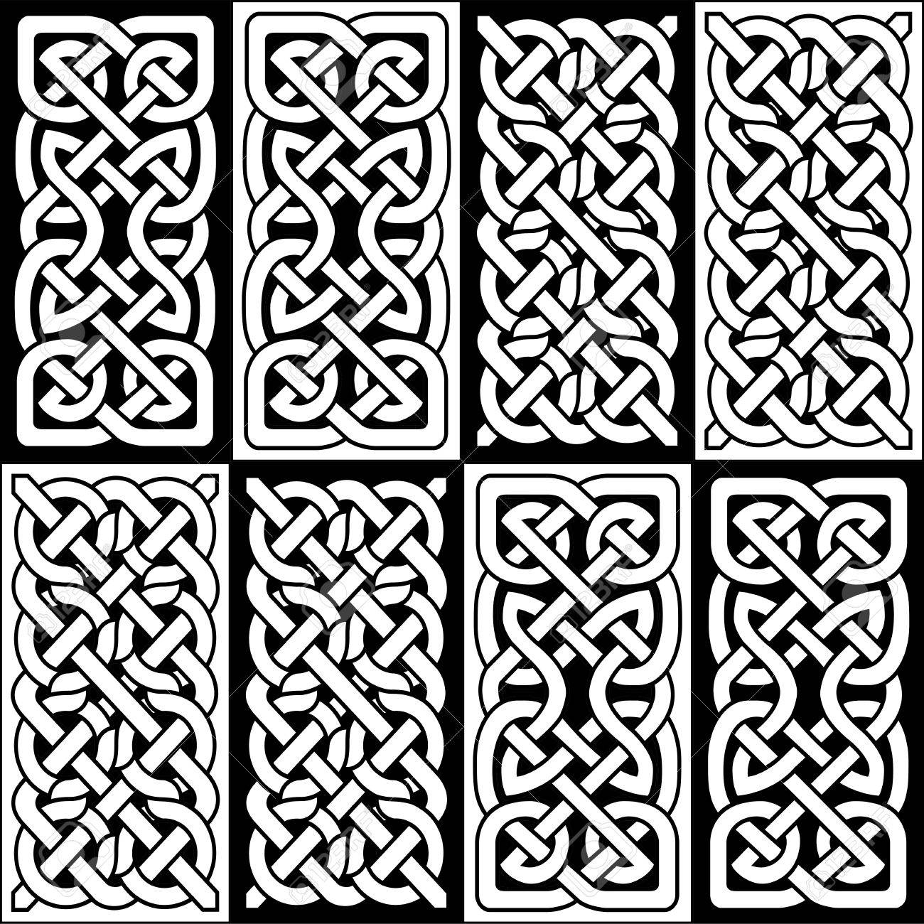Celtic style endless knot rectangle symbols in white and black celtic style endless knot rectangle symbols in white and black semales tile inspired by irish st buycottarizona