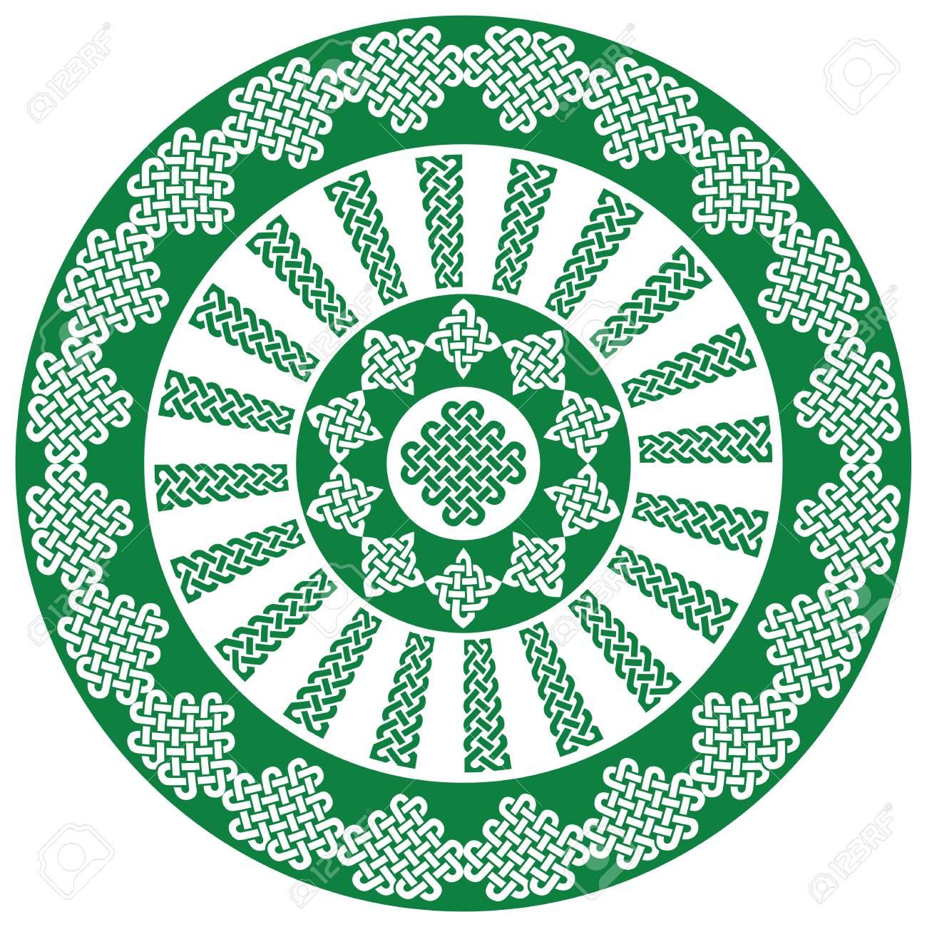 Mandala Style Celtic Style Endless Knot Symbols In White And
