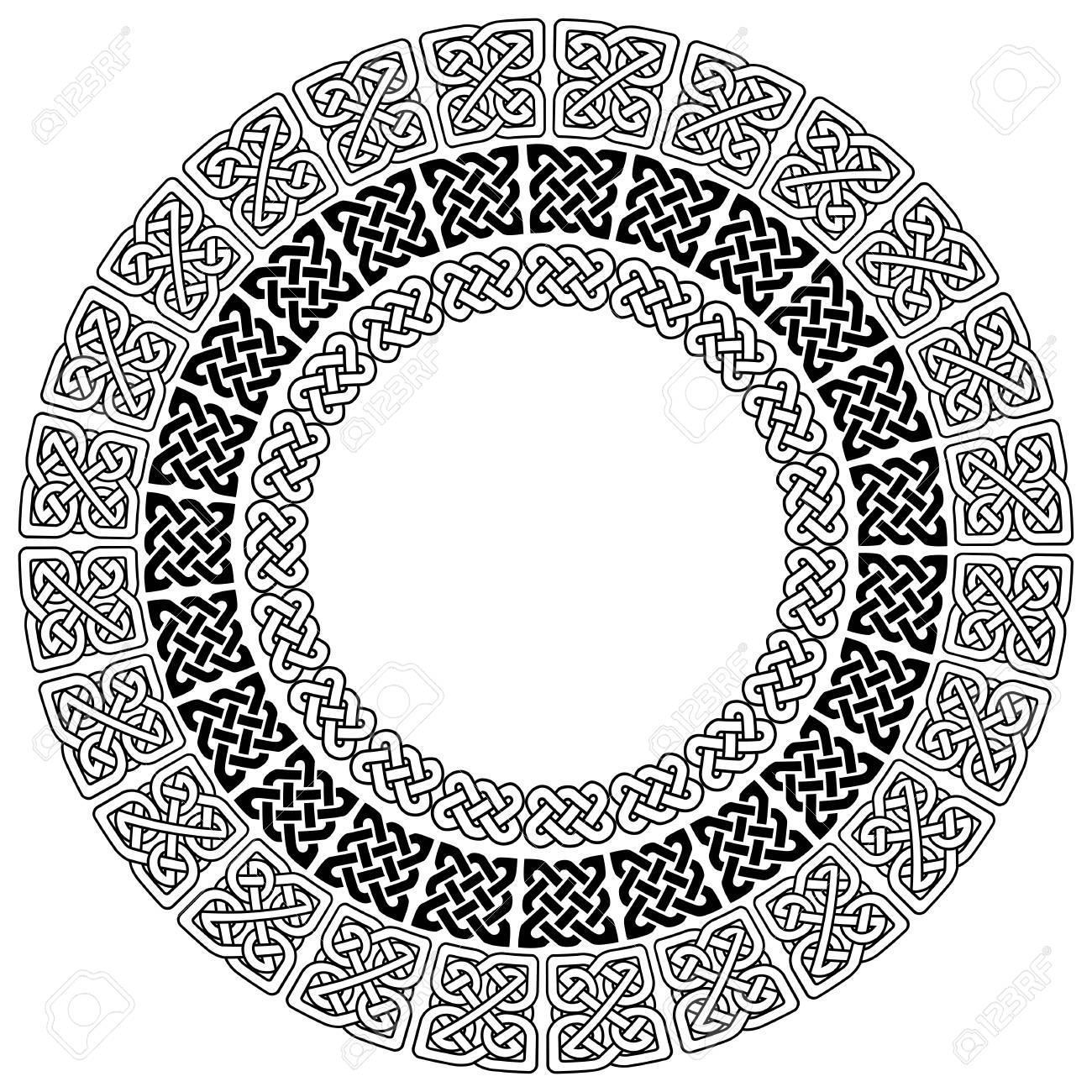 Mandala De Estilo De Estilo Celta Símbolos Sin Fin Del Nudo En ...