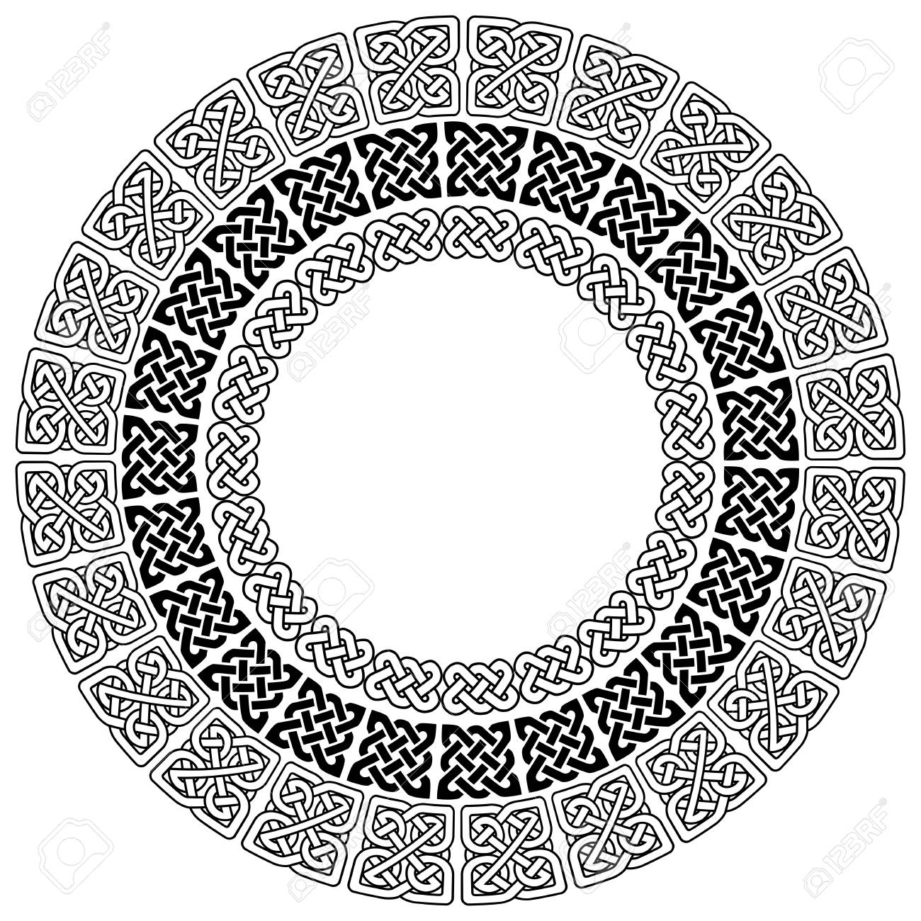 Mandala style celtic style endless knot symbols in white on black mandala style celtic style endless knot symbols in white on black background in 3 circles with buycottarizona
