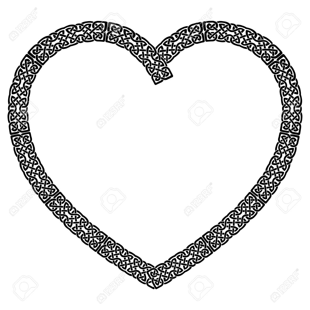 Black celtic style knotted heart with eternity knot pattern black celtic style knotted heart with eternity knot pattern inspired by irish st patricks day buycottarizona Image collections