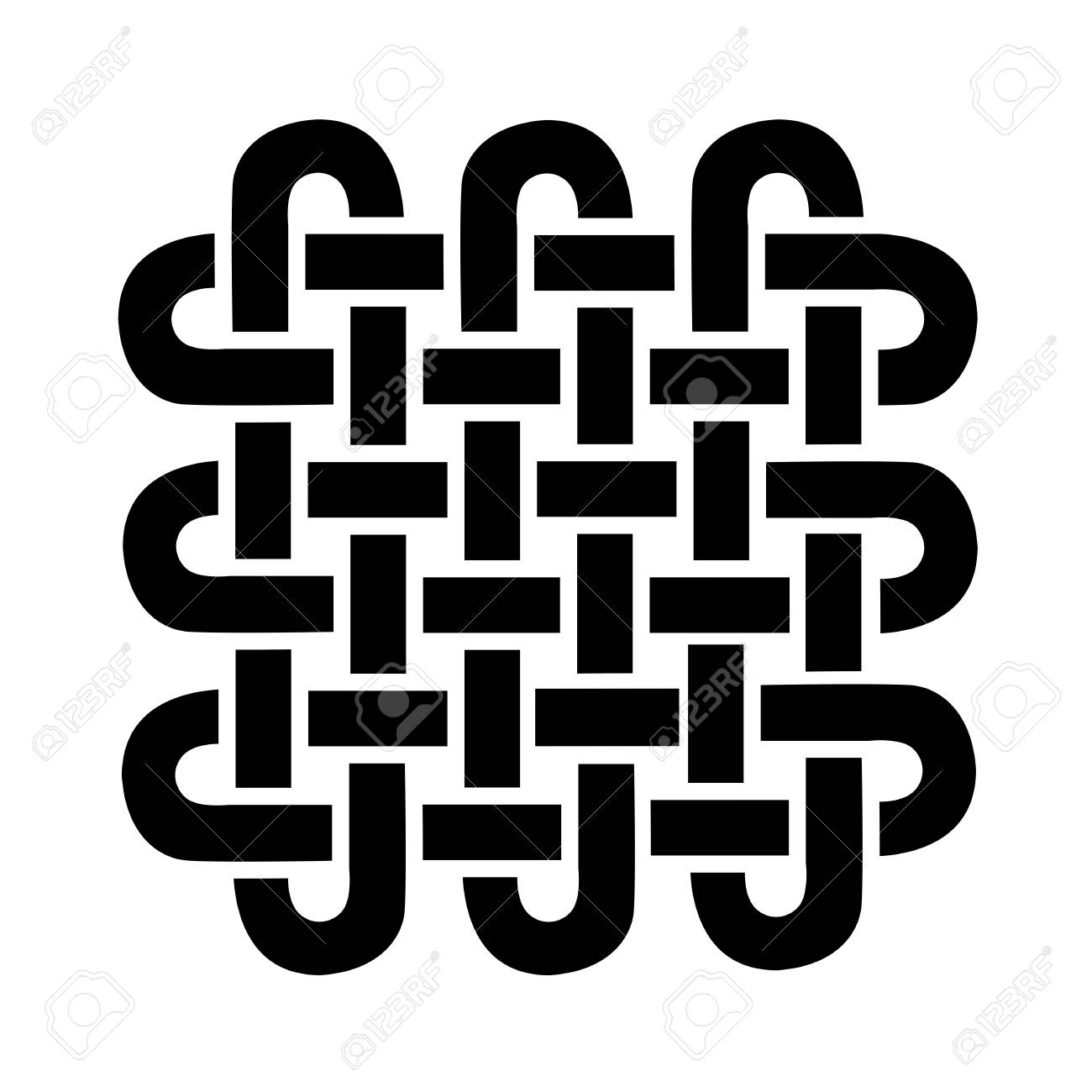 Symbole De Forme Carrée De Style Celtique Basé Sur Le Noeud De L