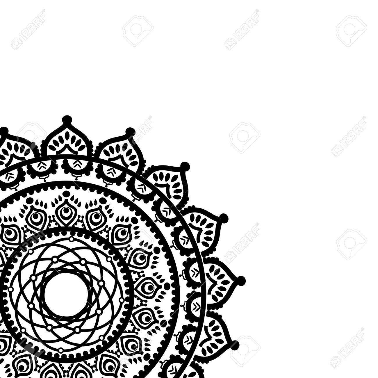 La Cultura Asiática Inspiró El Mandala Parcial En Forma De