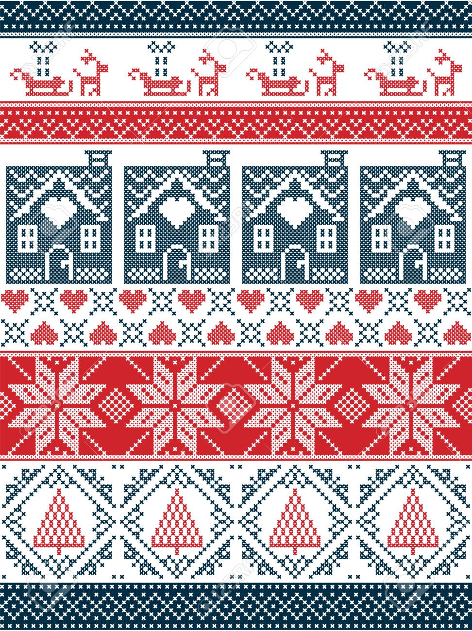 Seamless Scandinavian Textile Style, Inspired By Norwegian Christmas ...