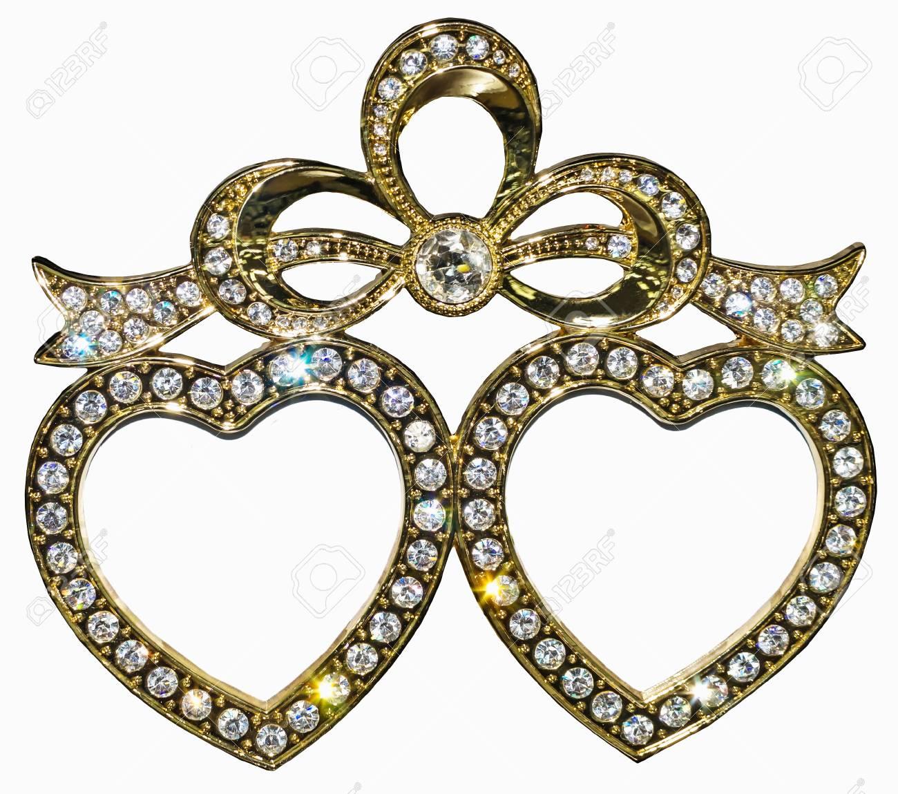 Marco Dorado Con Incrustaciones De Diamantes De Imitación En Forma ...
