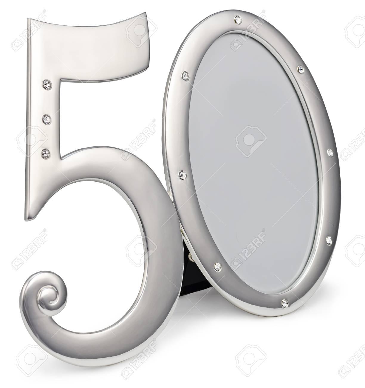 Marco De Fotos De Oro Cumpleaños 50 Aniversario De Aislamiento Sobre ...