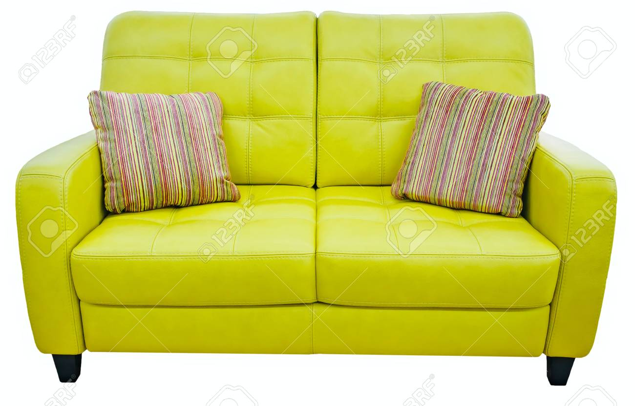 Picture of: Green Lime Sofa With Pillow Soft Lemon Couch Classic Pistachio Stock Photo Picture And Royalty Free Image Image 88992176