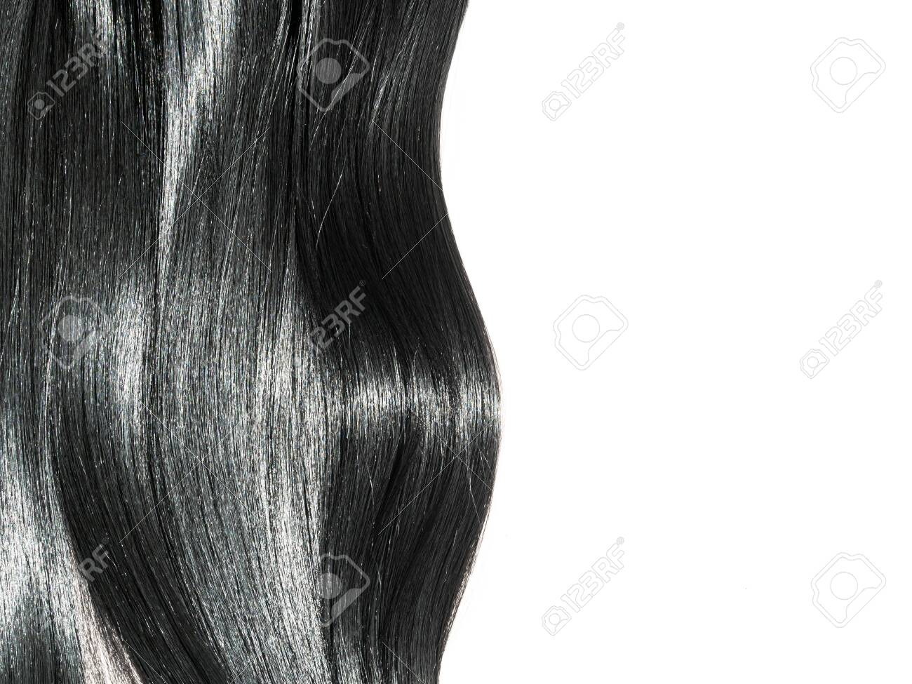 Shiny straight black hair background. Beautiful smooth brunette hair backdrop - 121634191