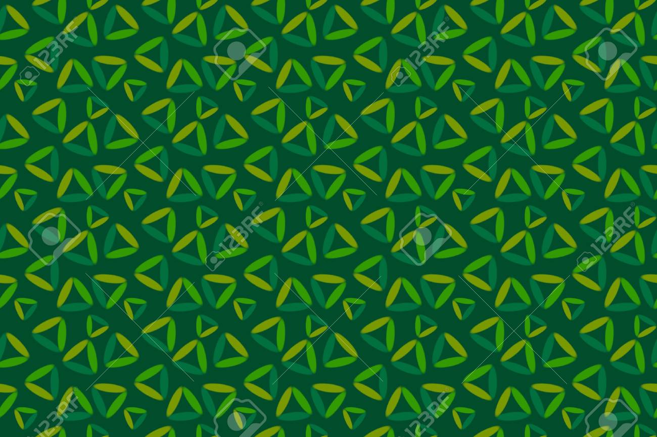 Seamless Dark Green Background with Painted Triangles Stock Photo - 16271615