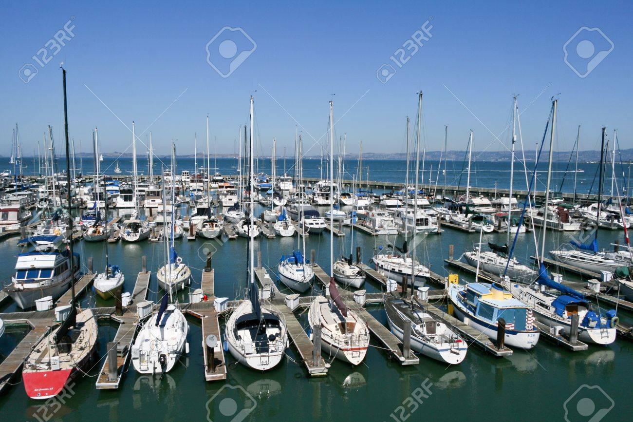 SAN FRANCISCO - SEPTEMBER 24 Numerous boats docked at Pier 39