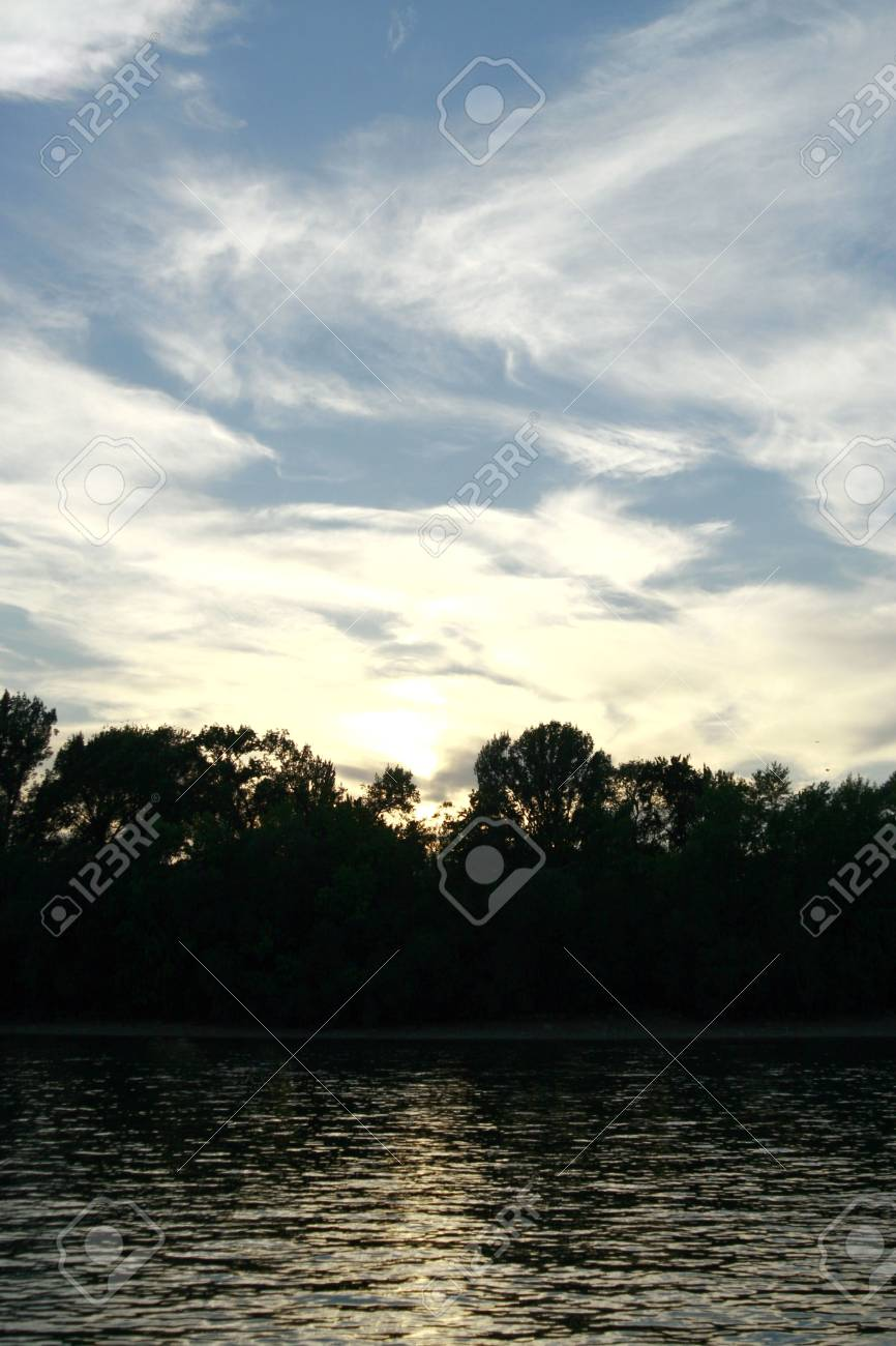 Sunset at riverside whit beautiful sky # 2 Stock Photo - 5130456