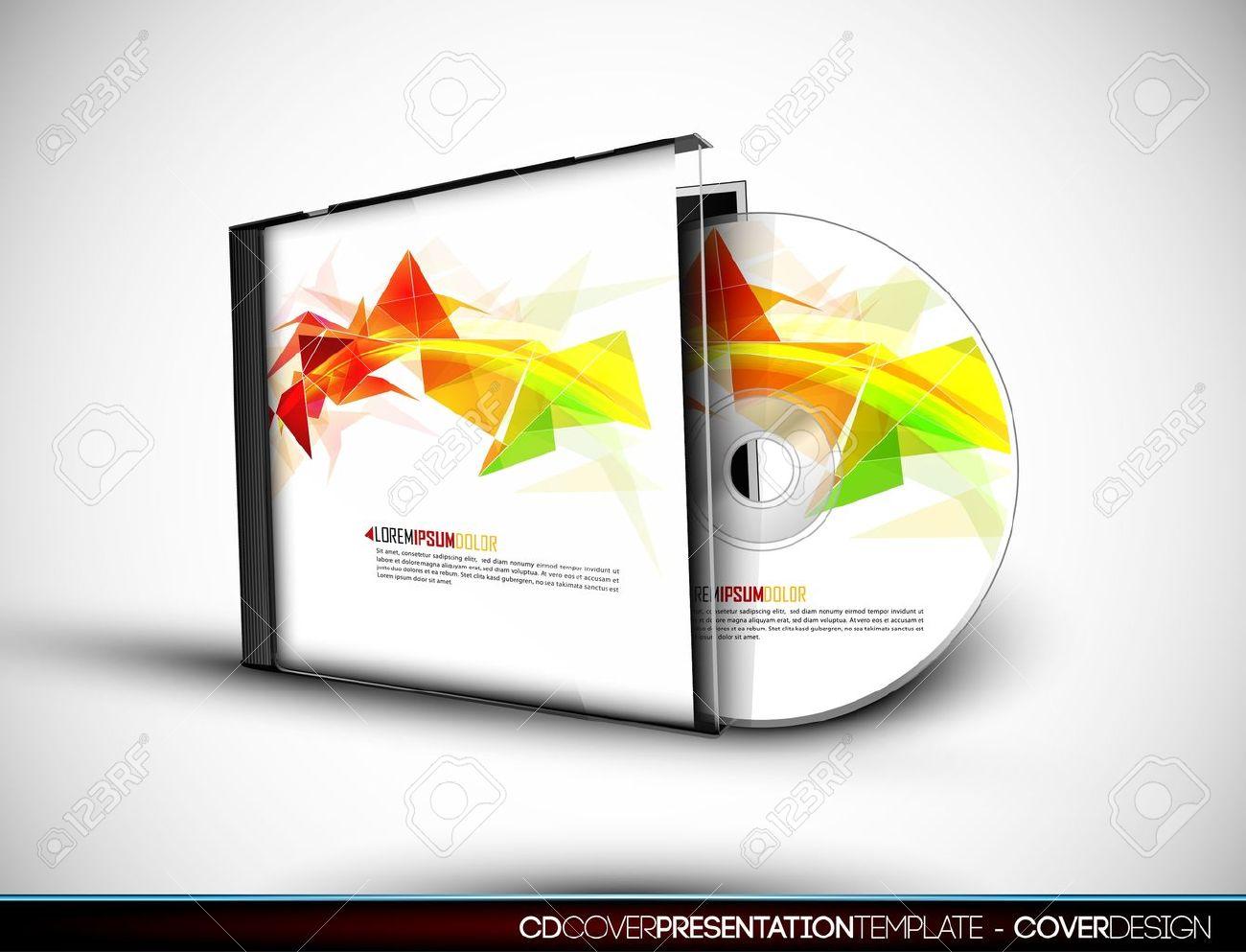 CD Cover Design Con Plantilla De Presentación 3D Ilustraciones ...