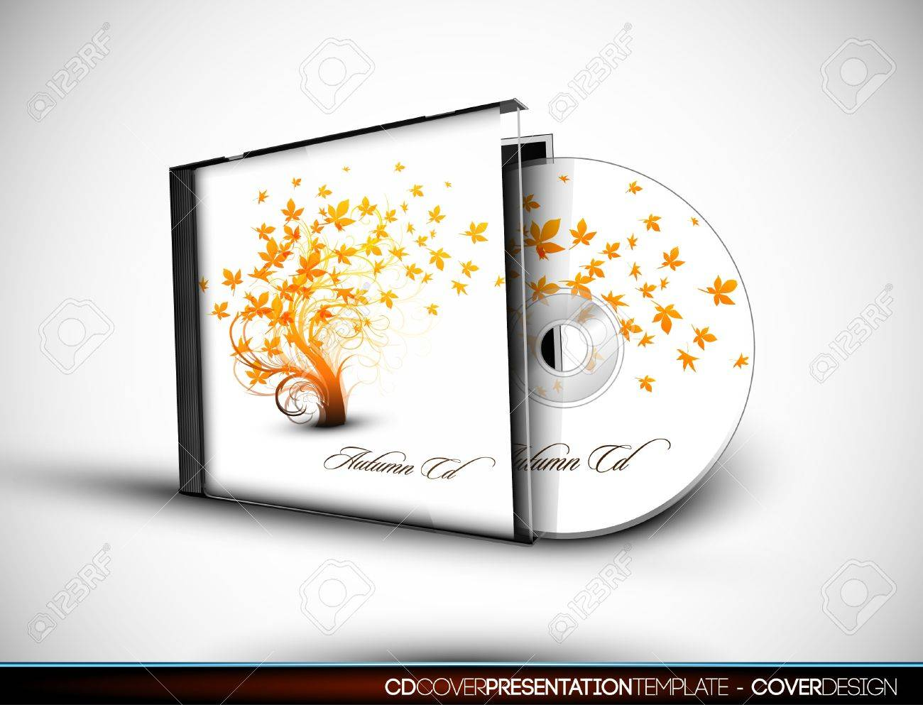 Flourish CD Cover Design 3D Con Capas De Presentación De Plantillas ...