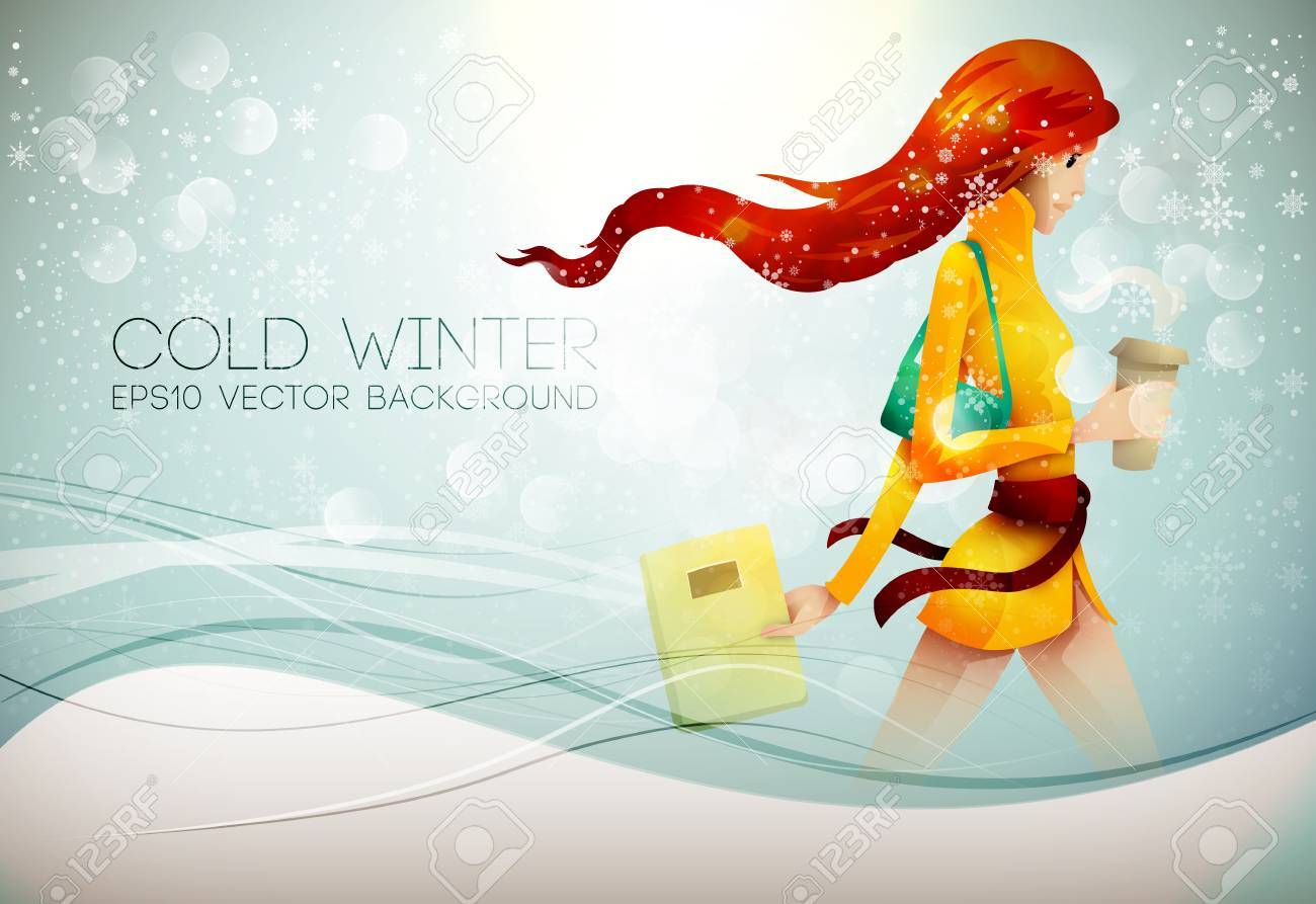 Stepping into the Winter Stock Vector - 16688002