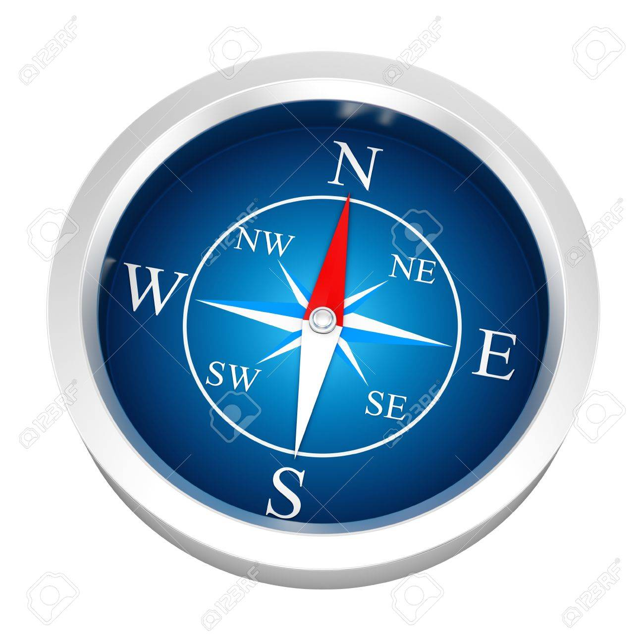 render of a compass, isolated on white Stock Photo - 16974018