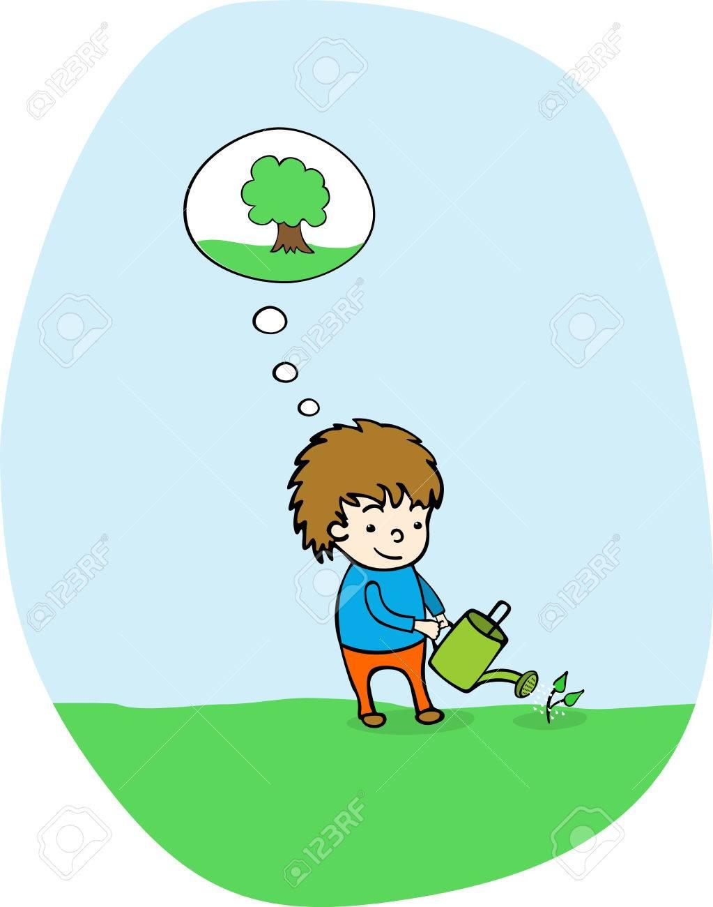 Plant a tree Stock Vector - 8825448