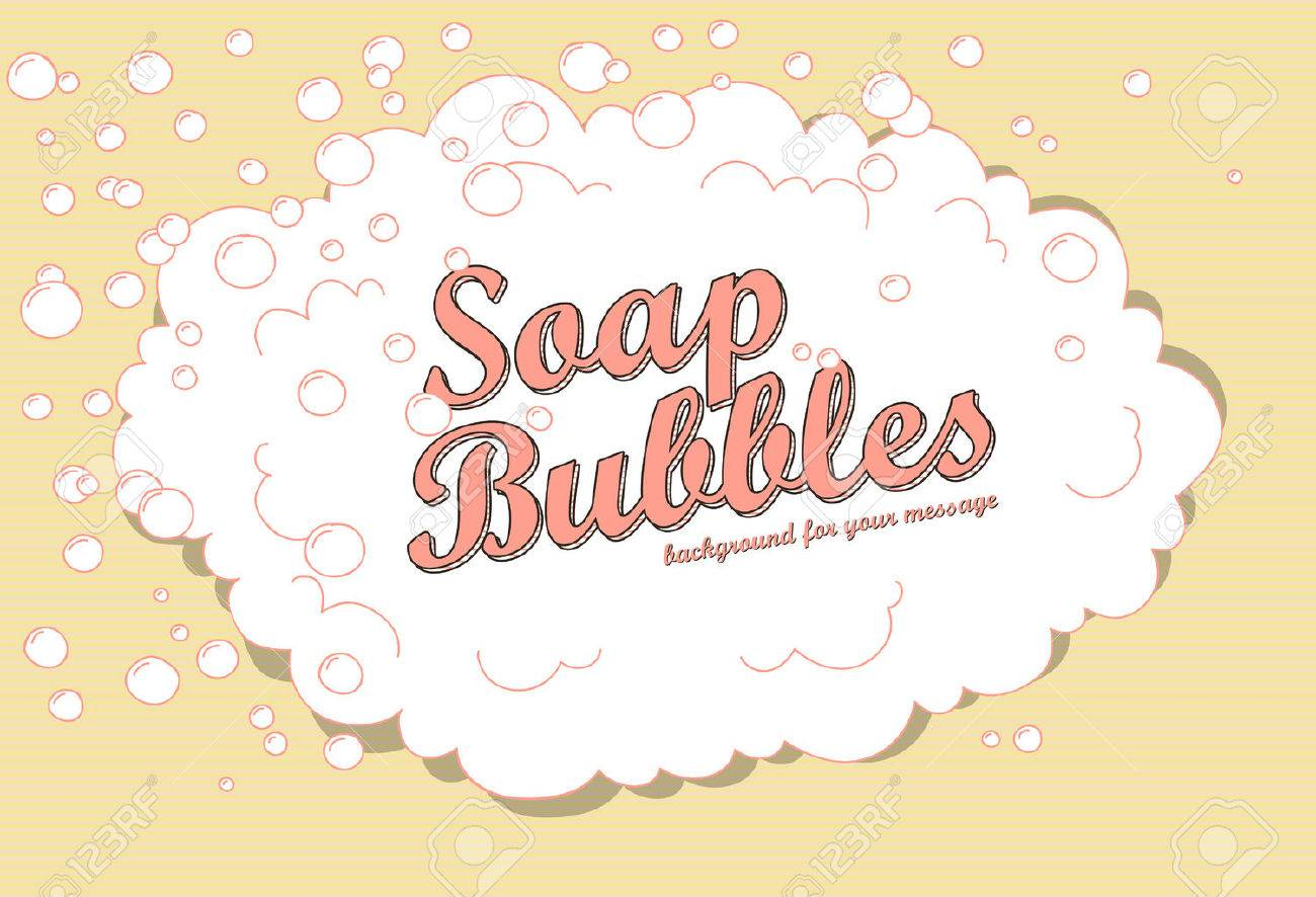 Retro soap bubble background with space - 28702348
