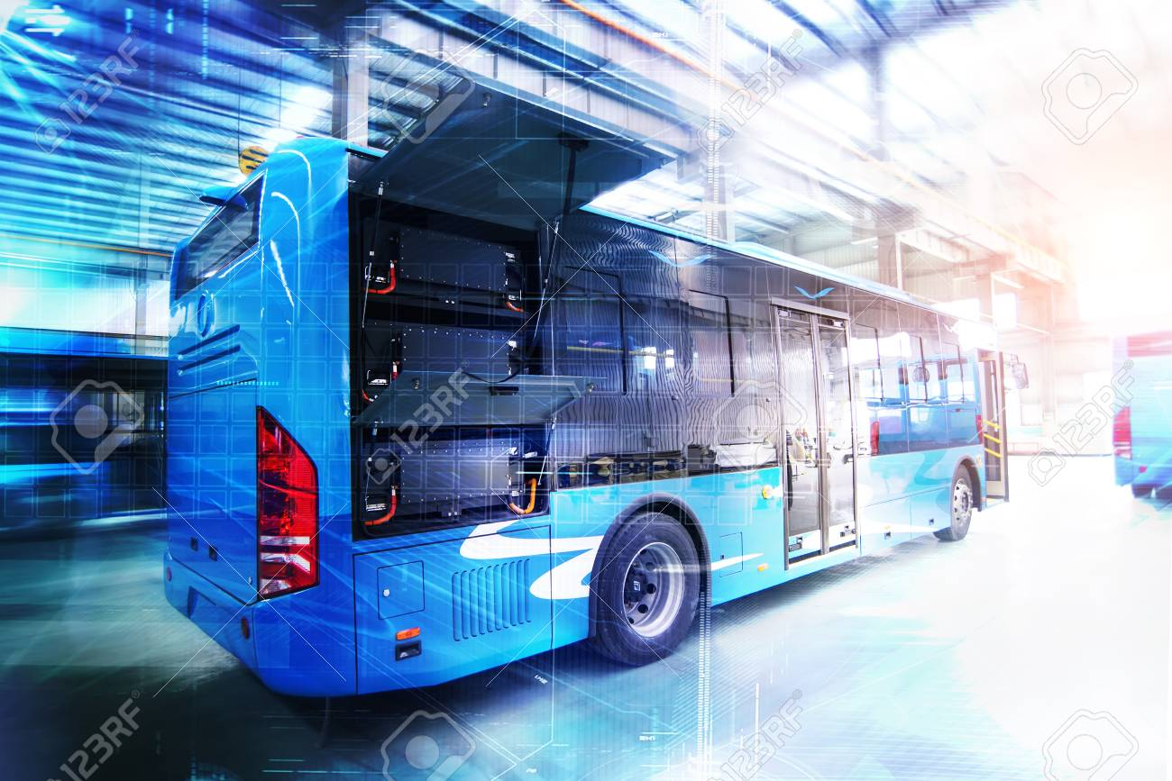 Pure electric buses in factories - 111011665