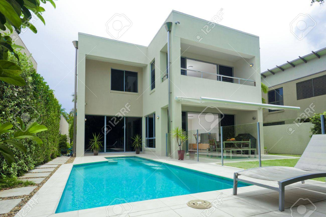 Luxury House With Swimming Pool Stock Photo Picture And Royalty