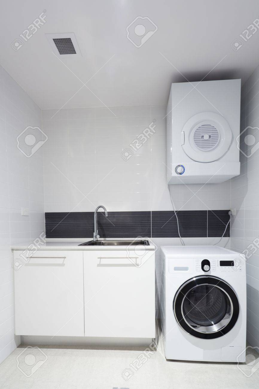 Laundry room in new appartment Stock Photo - 14179808