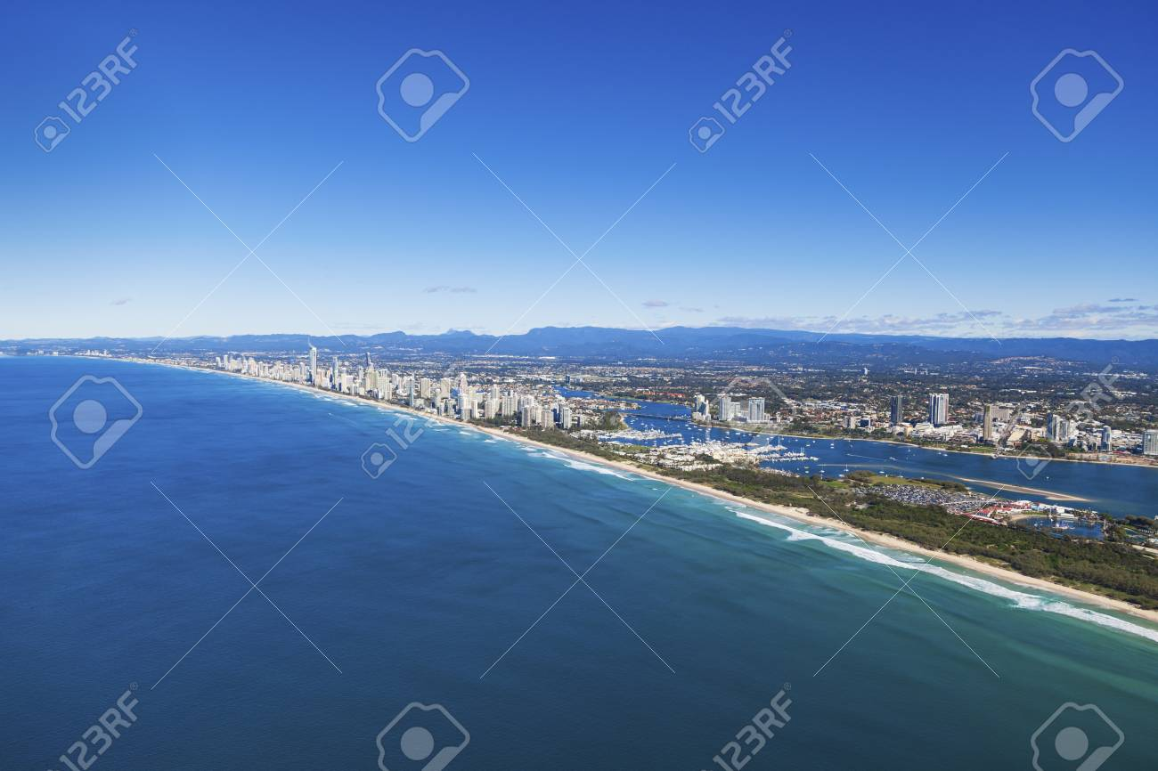 Aerial view of Gold Coast, Queensland, Australia Stock Photo - 20412667