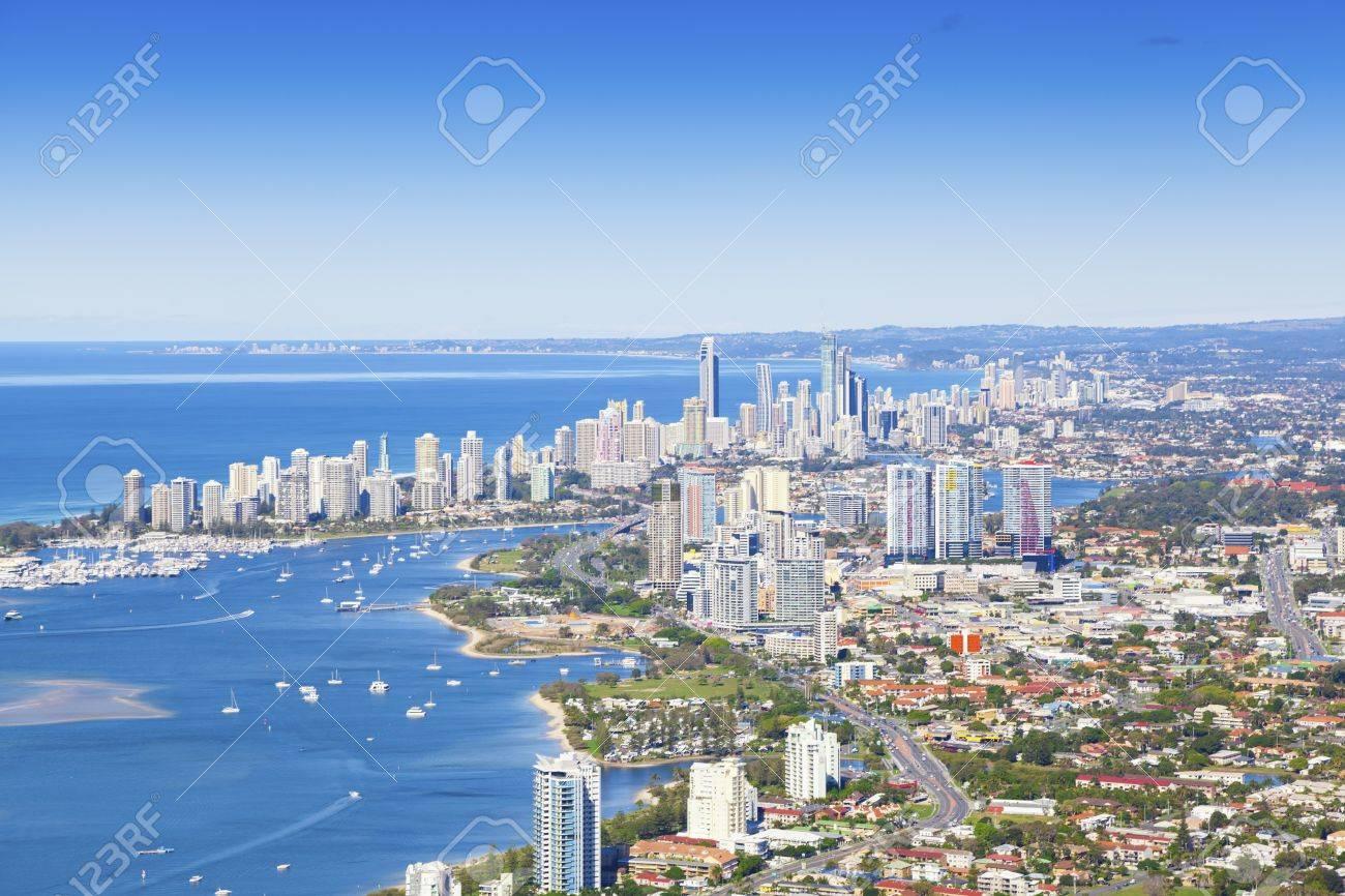 Aerial view of Gold Coast, Queensland, Australia Stock Photo - 20412750