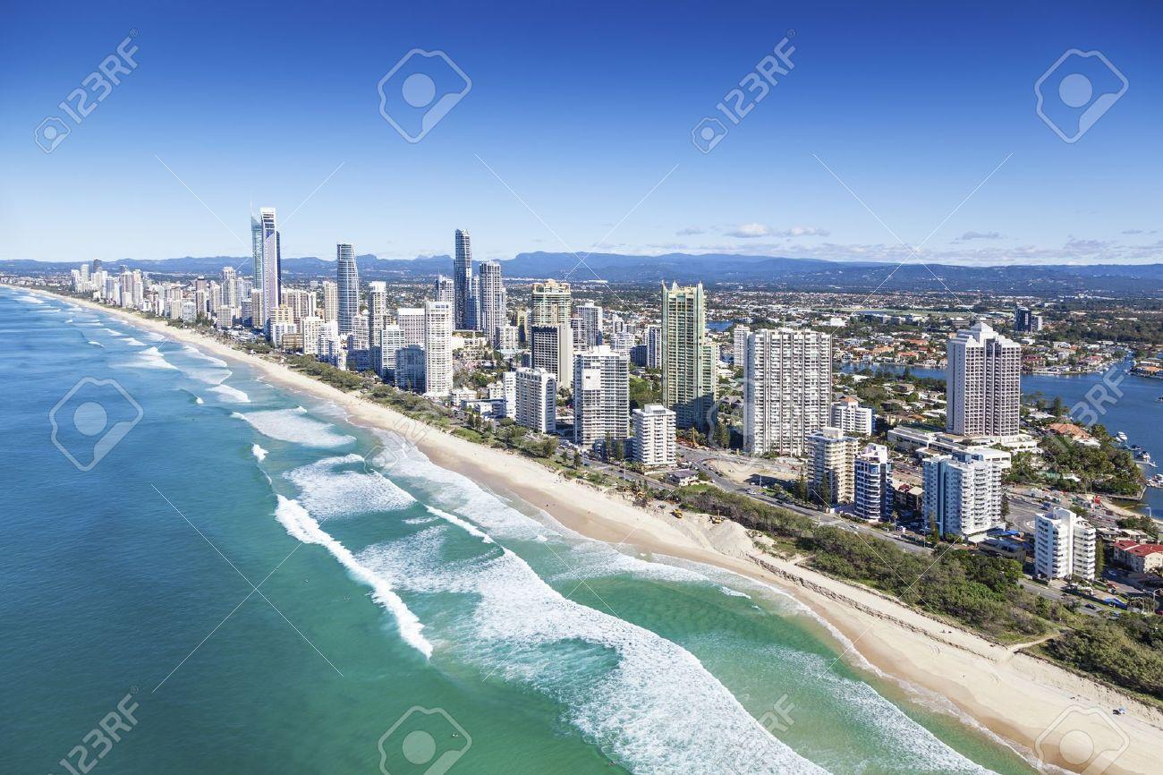 Aerial view of Gold Coast, Queensland, Australia - 20412722