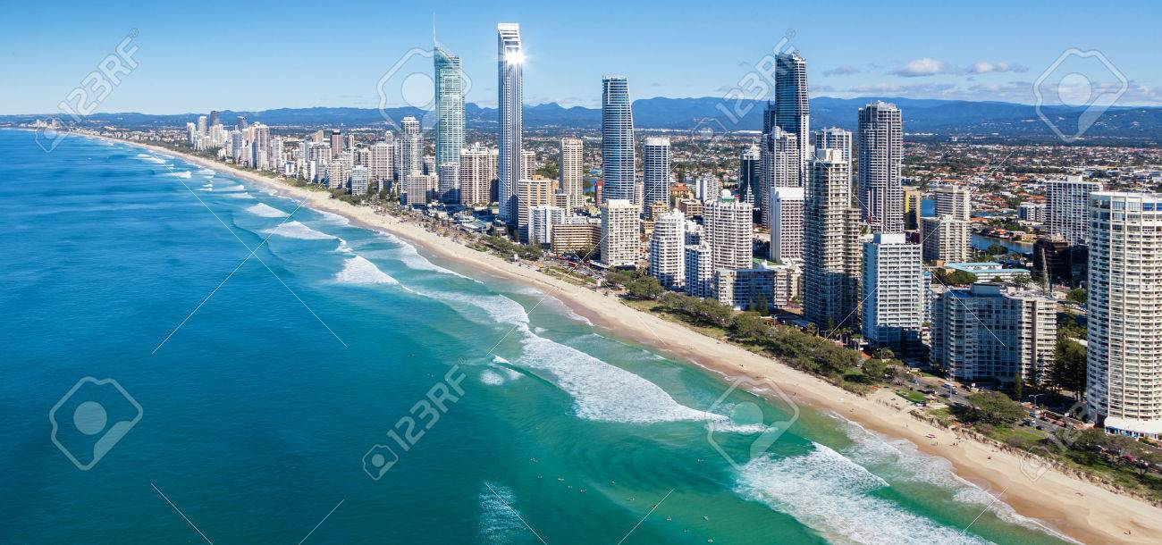 Sunny view of Gold Coast, Queensland, Australia Standard-Bild - 25283575