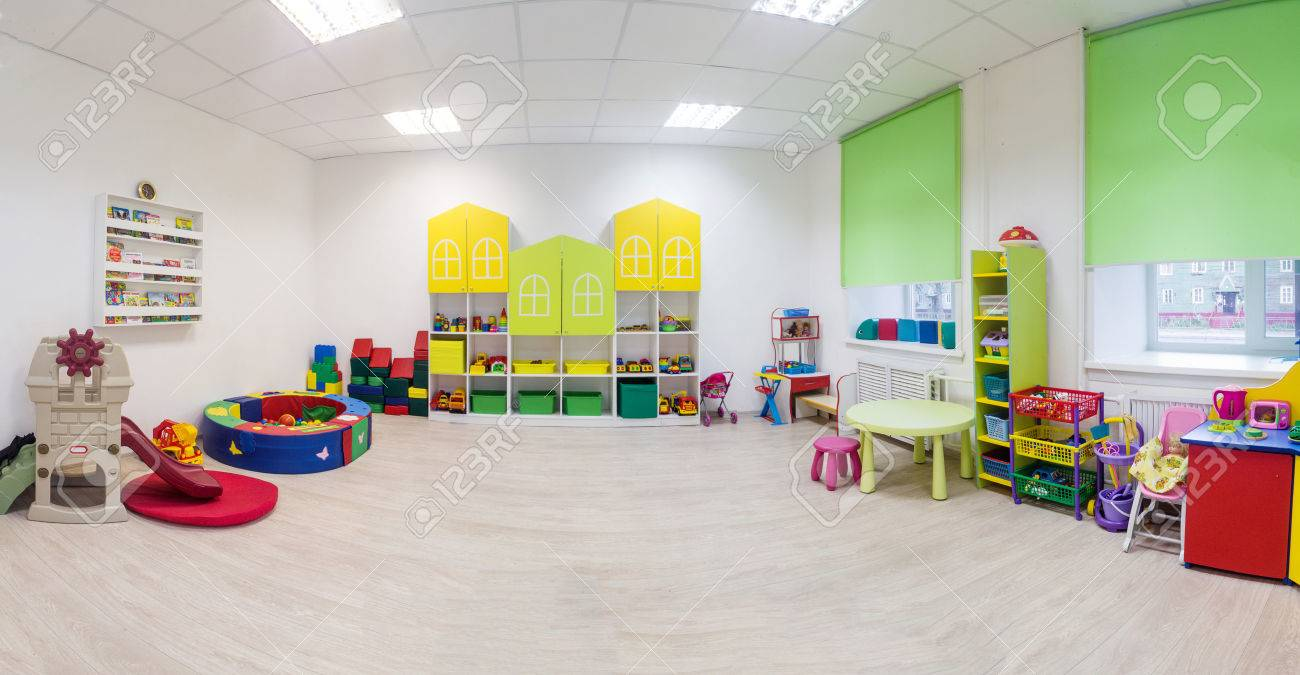A large game room in the kindergarten. Wide Panoramic Picture - 71908860