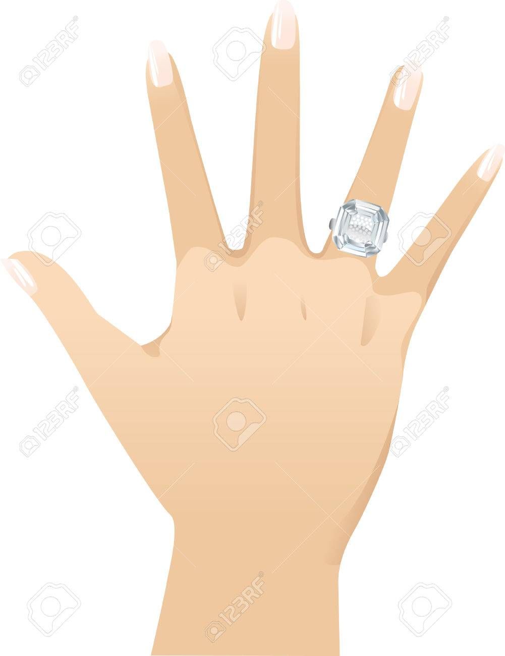 Asscher cut diamond - for left hand just flip the image. Stock Vector - 7885182