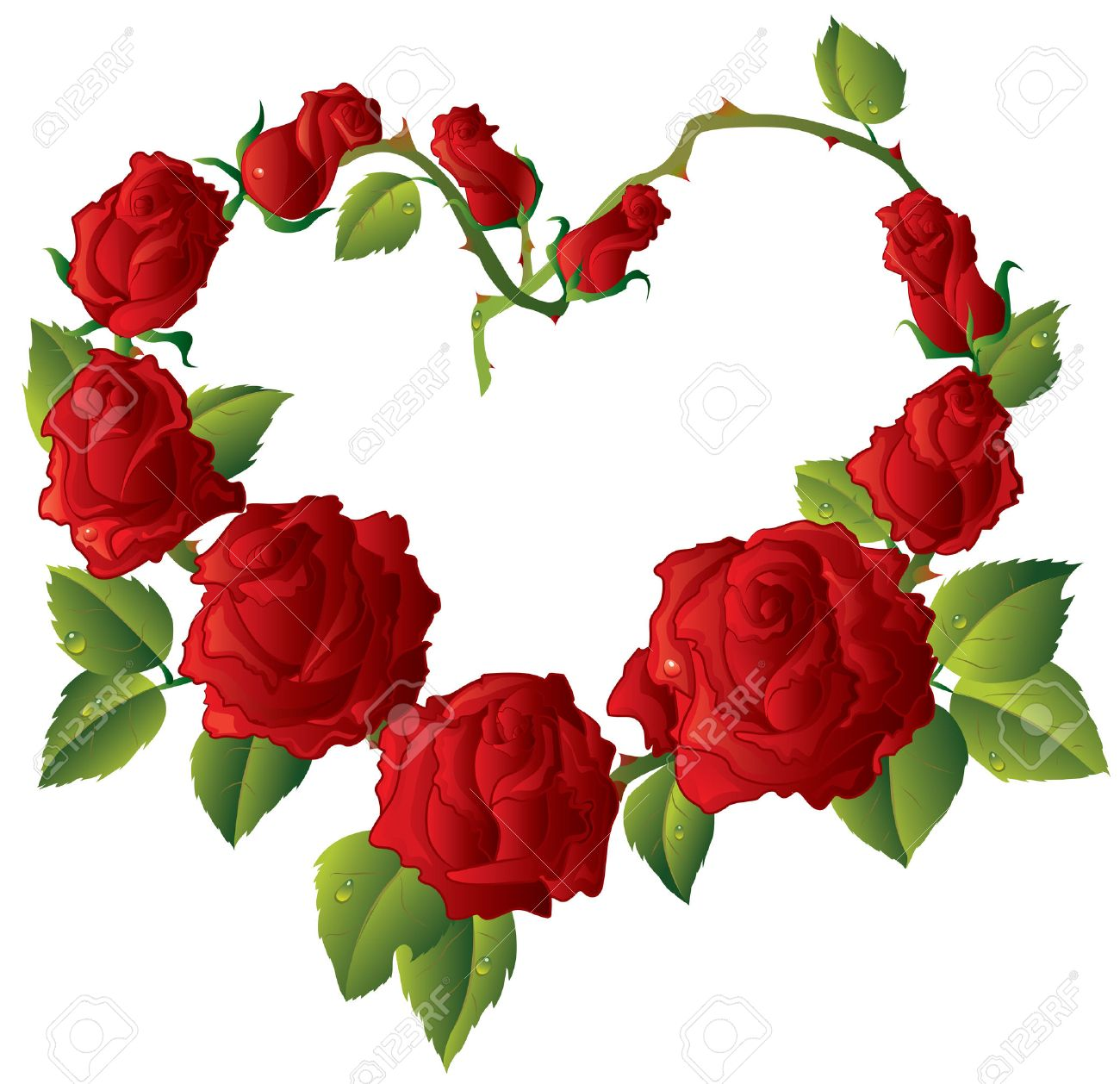 Heart shape framework made of beautiful red roses royalty free heart shape framework made of beautiful red roses stock vector 8638952 izmirmasajfo