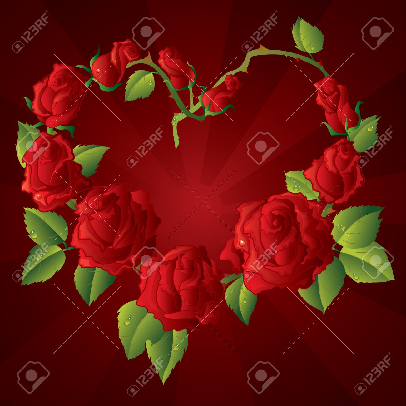 Red Rose Love Heart