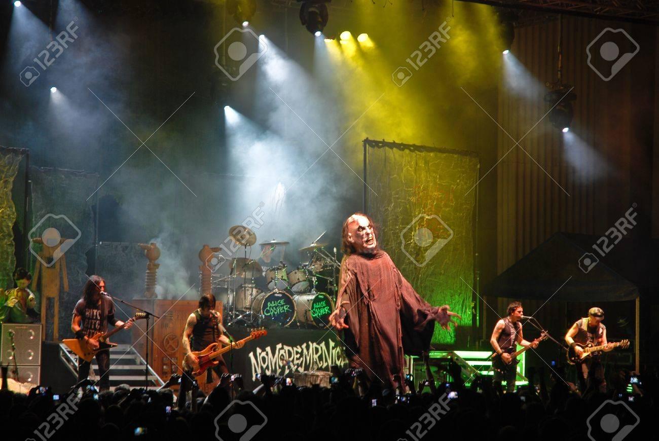 Bucharest - Romania, June 14, 2011 - Alice Cooper perform live at Arenele Romane Stock Photo - 9777124