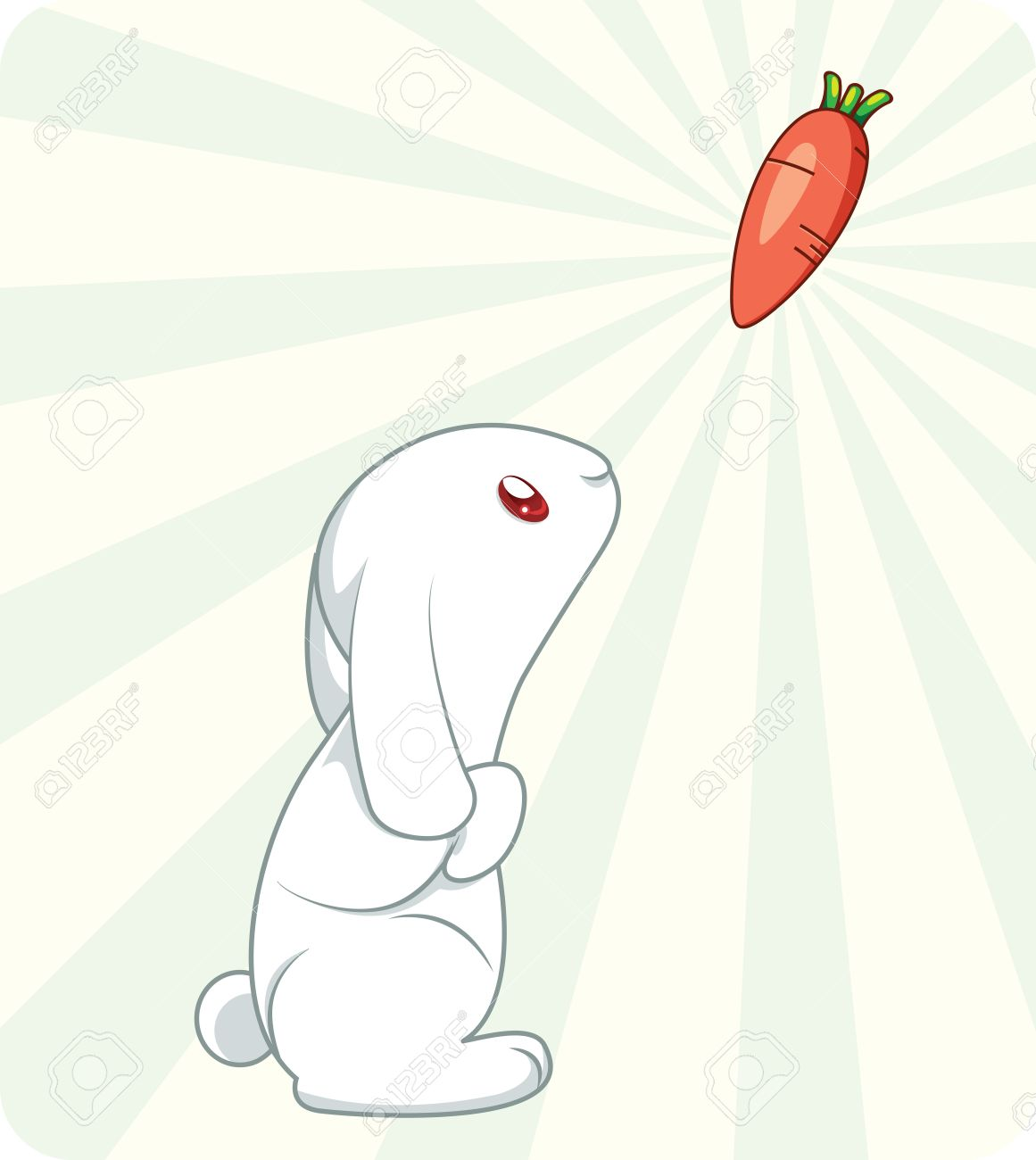 Cute Anime Rabbit Cute white rabbit with carrot