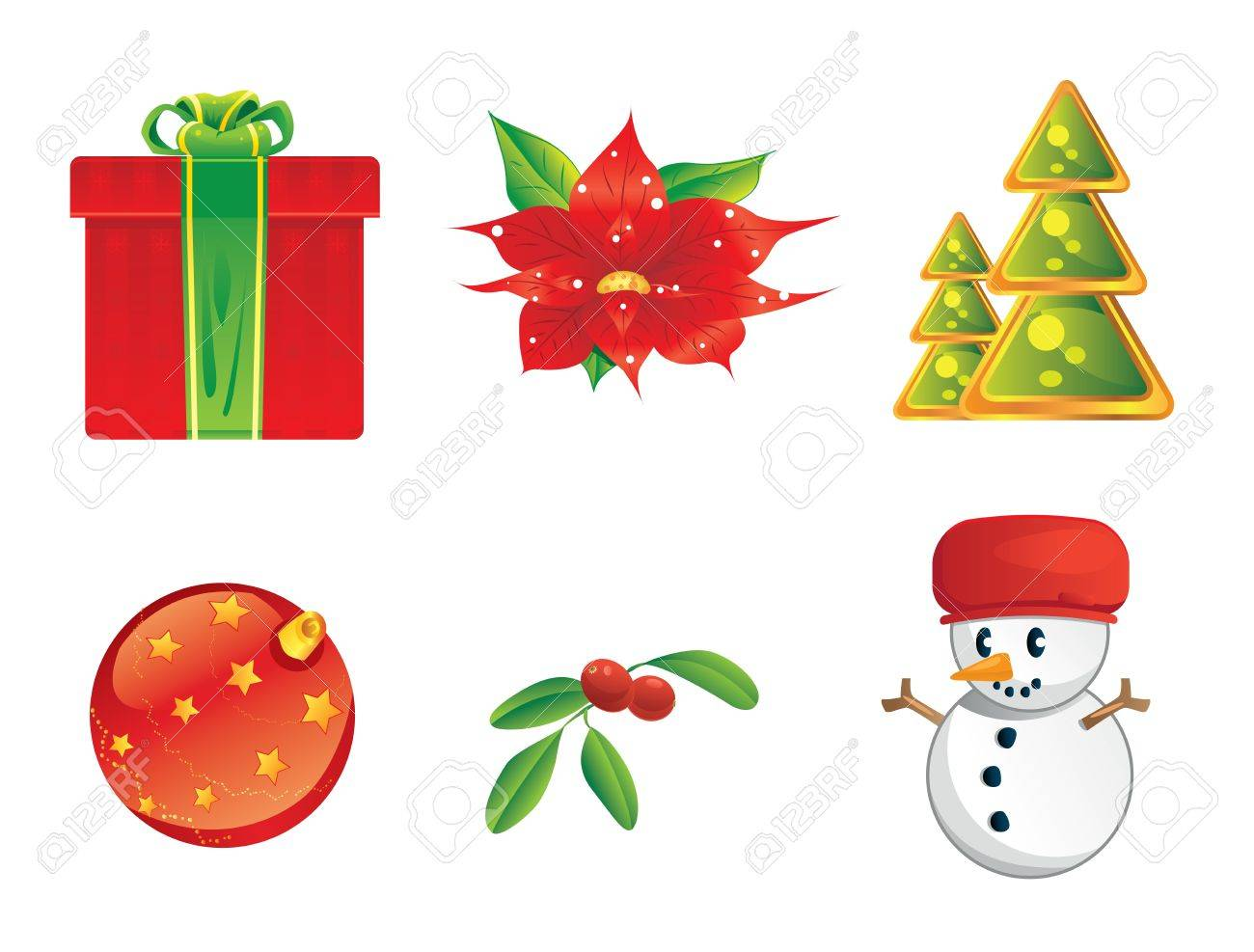 Christmas icons Stock Vector - 11141977