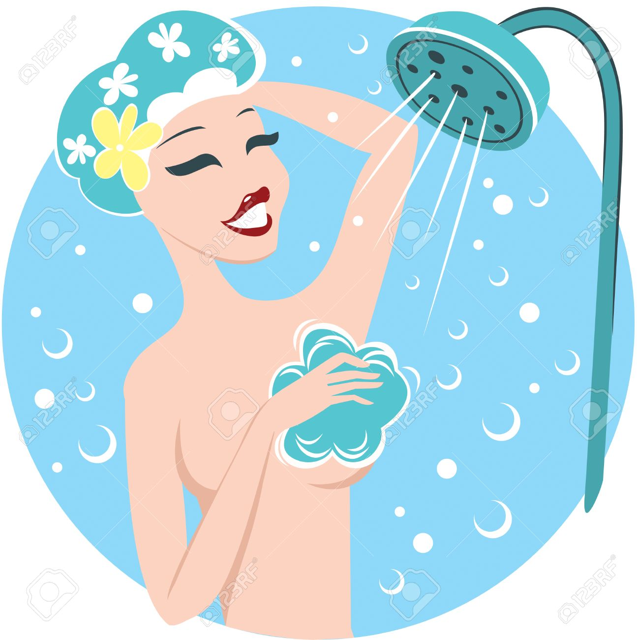 Image result for shower cartoon