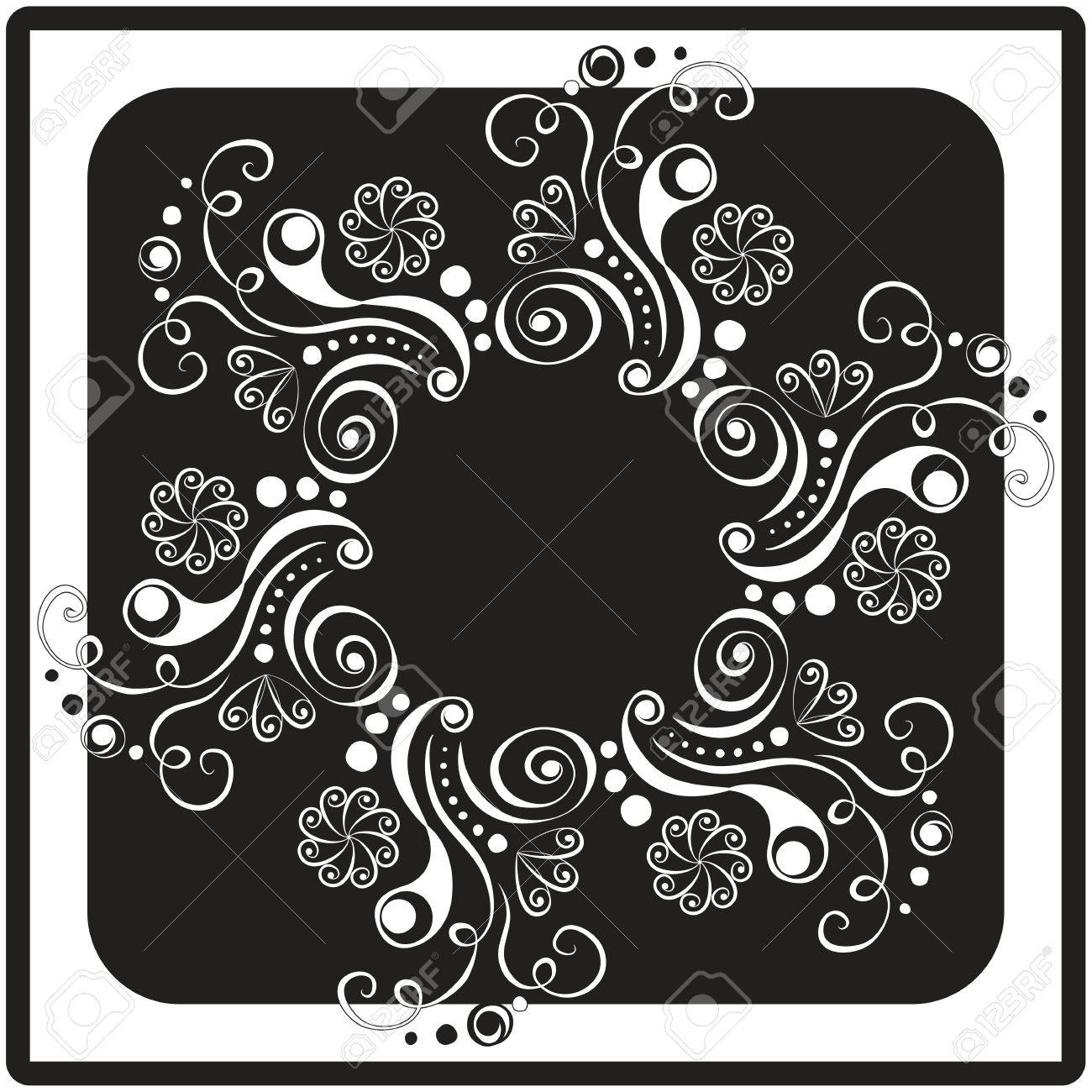 graphic floral card Stock Vector - 12088216