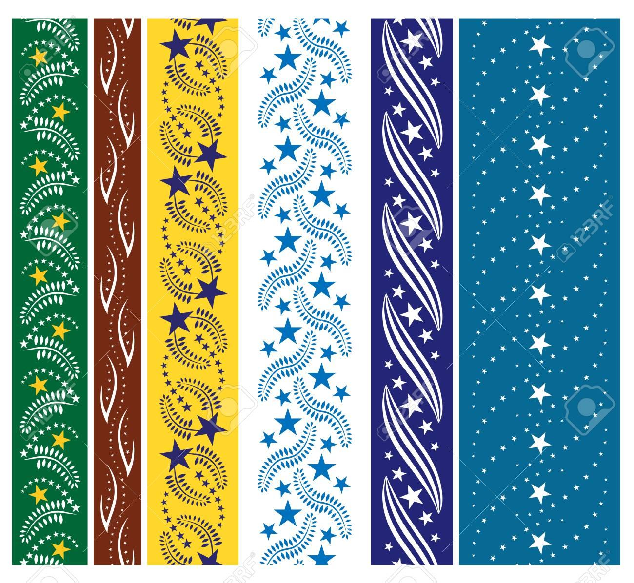 Six star seamless ornaments Stock Vector - 13671229