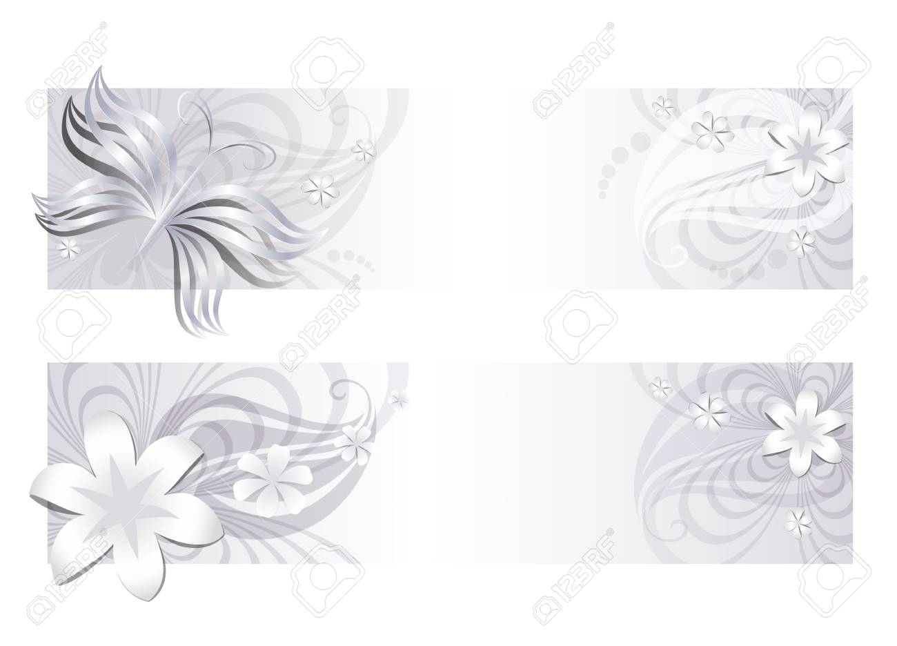 Delicate floral banners Stock Vector - 14220182