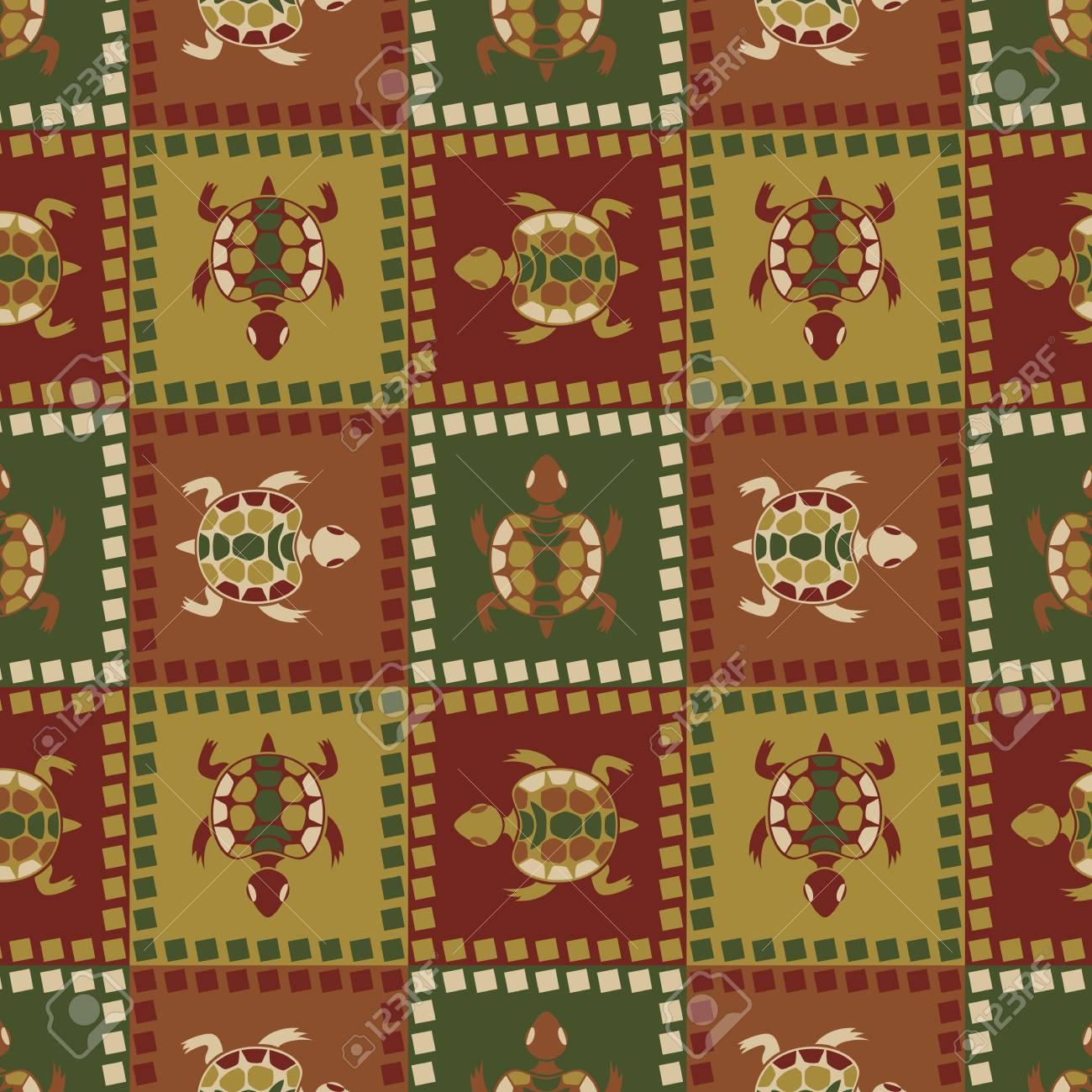 Ethnic turtle seamless pattern Stock Vector - 14581103