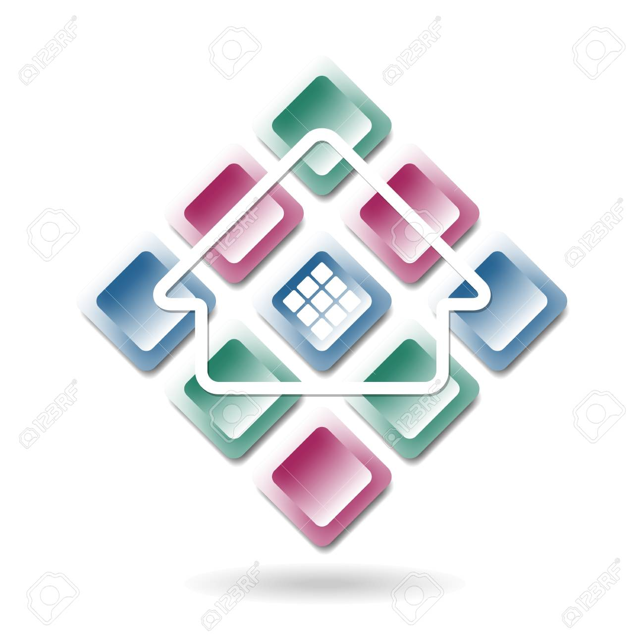 abstract building icon Stock Vector - 15479069