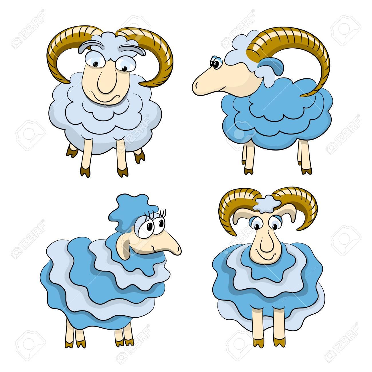Cartoon isolated sheep Stock Vector - 16563762