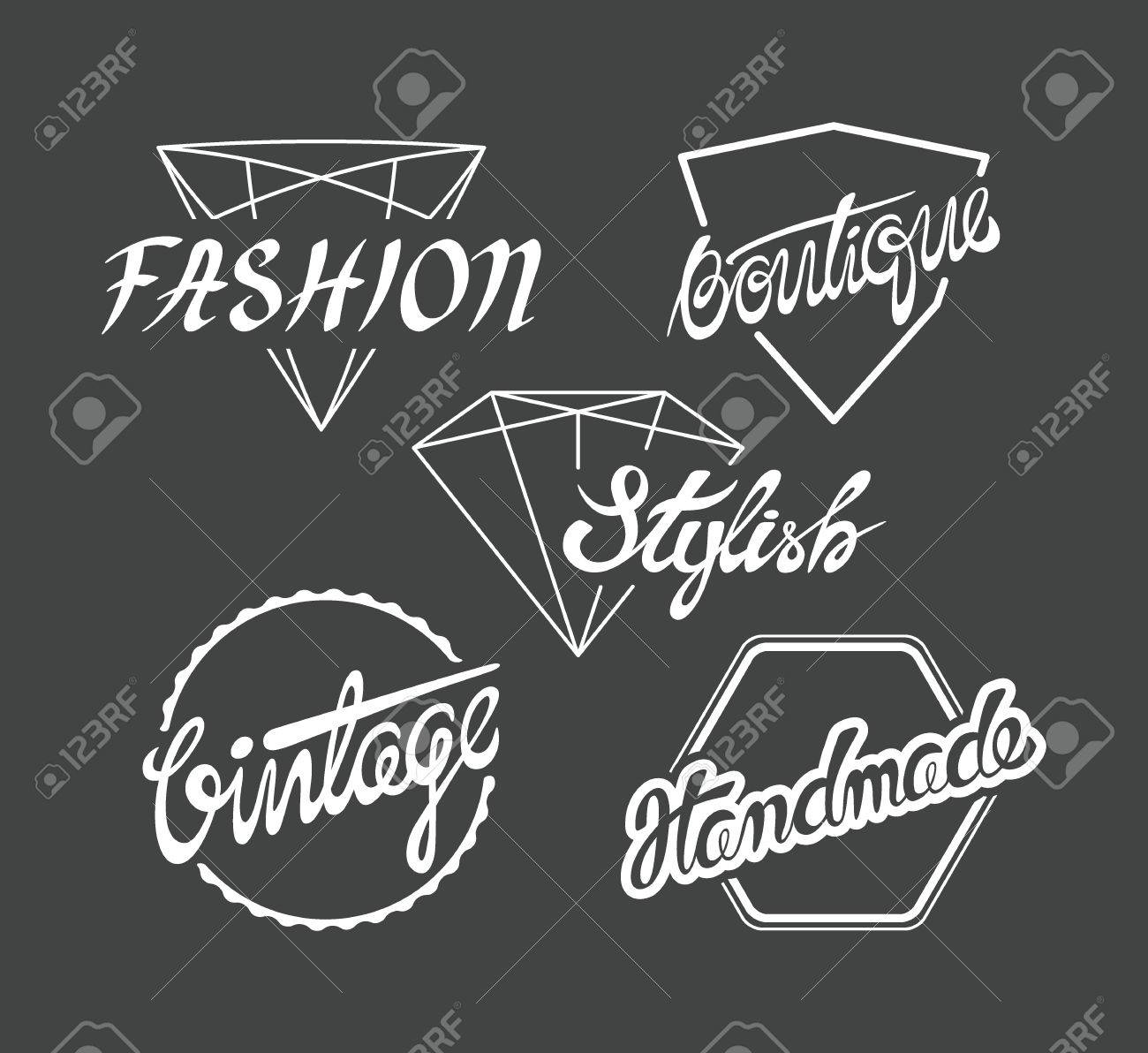 sale retailer 52858 91d41 Set of fashion industry labels, for tags on clothes. Online shops..