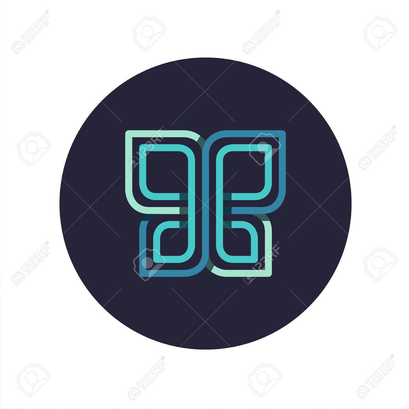 Overlapped line butterfly logo sign symbol geometrical beauty overlapped line butterfly logo sign symbol geometrical beauty concept stock vector biocorpaavc Images