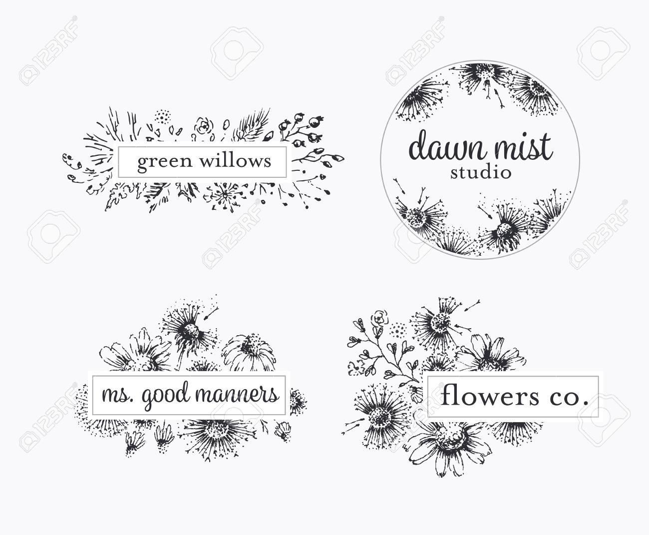 Blumen, die Etikette