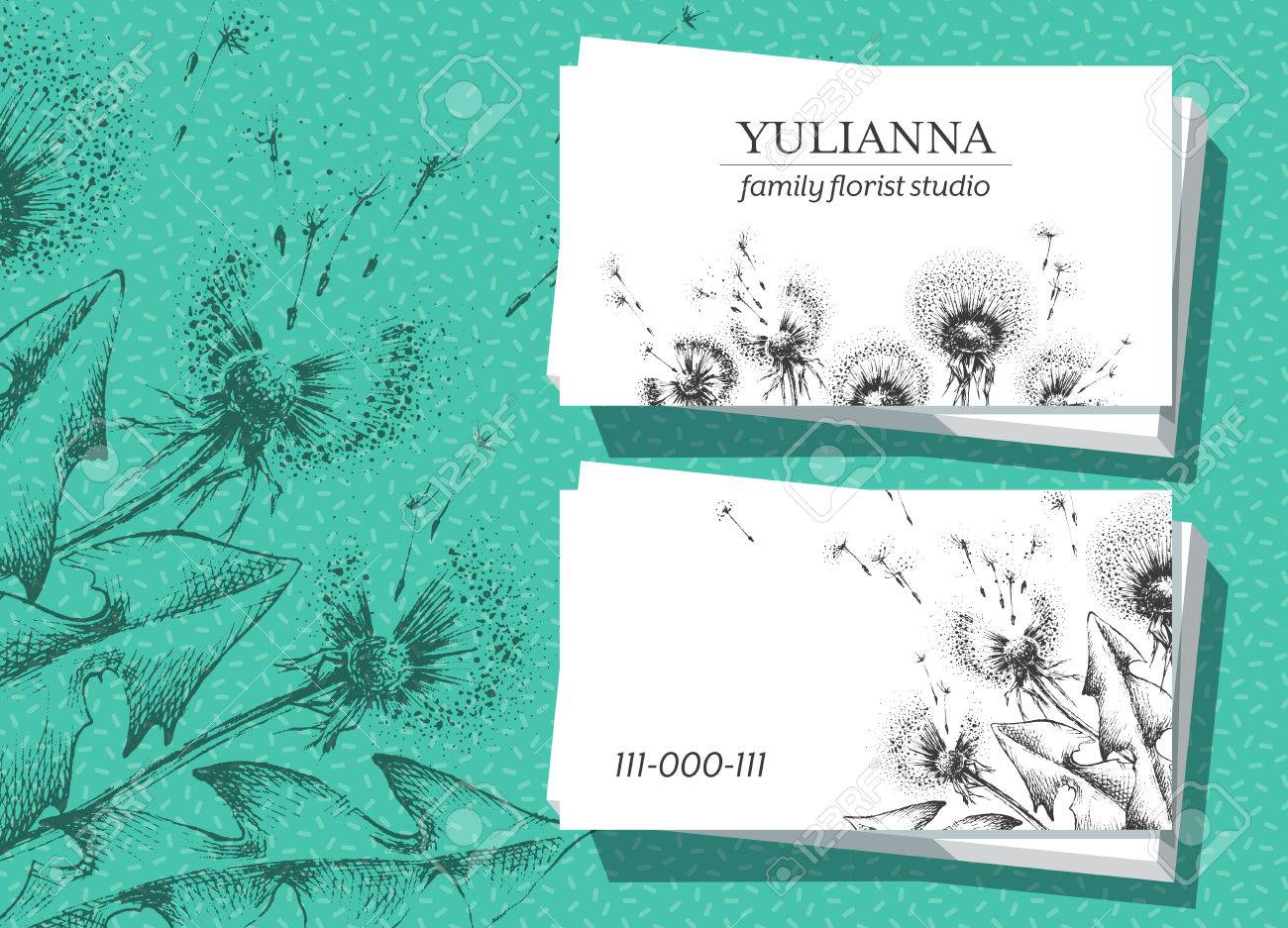 Botanical design business card 90x50 proportion royalty free botanical design business card 90x50 proportion stock vector 66908592 reheart Images