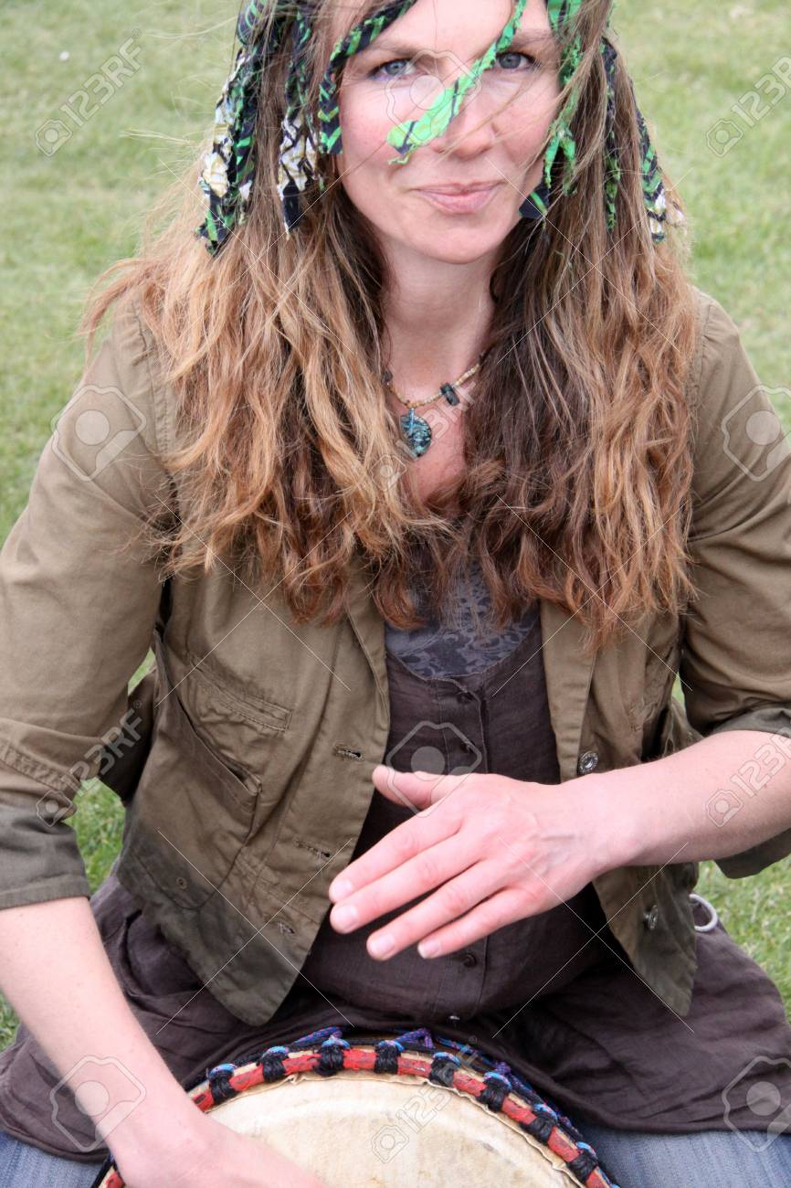Hastings UK, May 4th 2009, Pagan at Jack In The Green Festival, May Day Weekend Stock Photo - 6884802